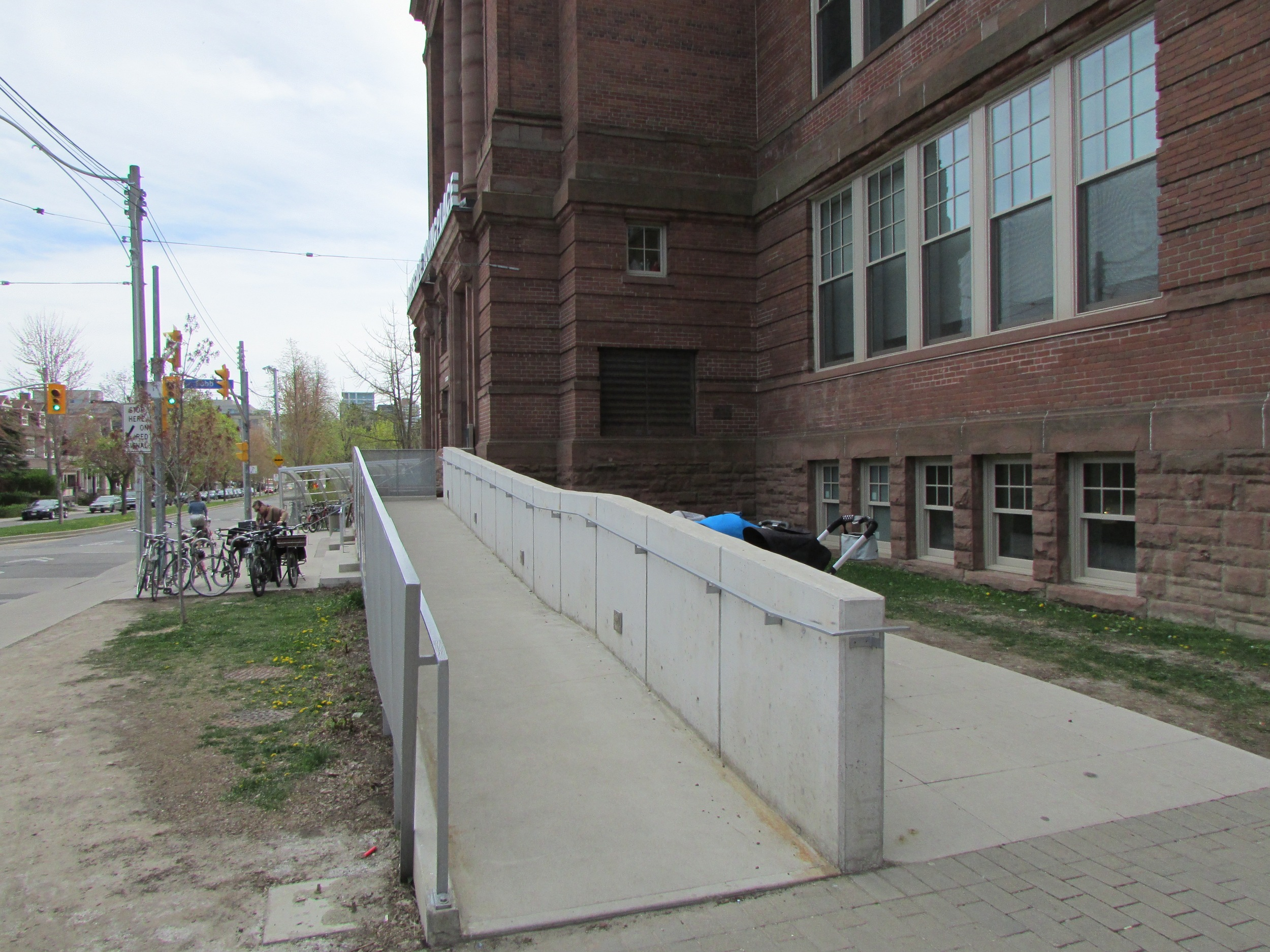 Picture of ramp in front of the building