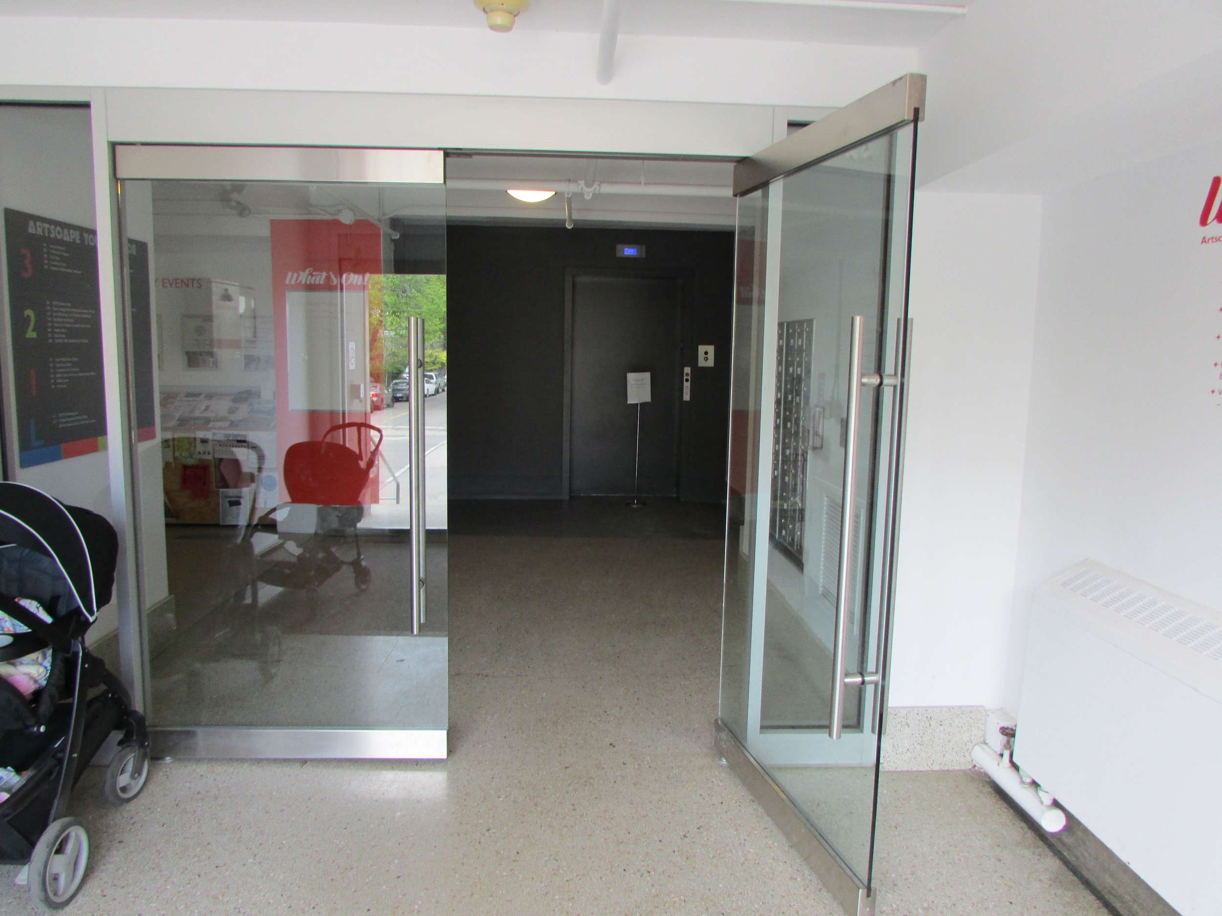 Picture of accessible, double door entrance