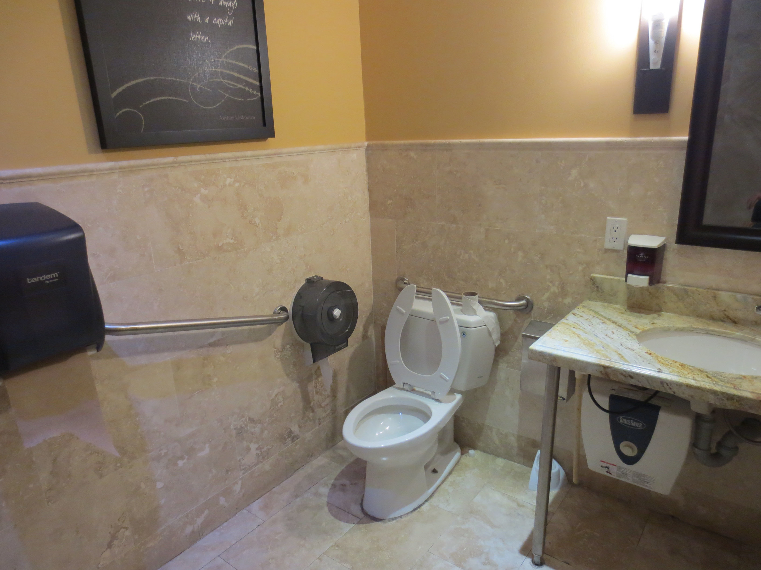 Picture of accessible washroom