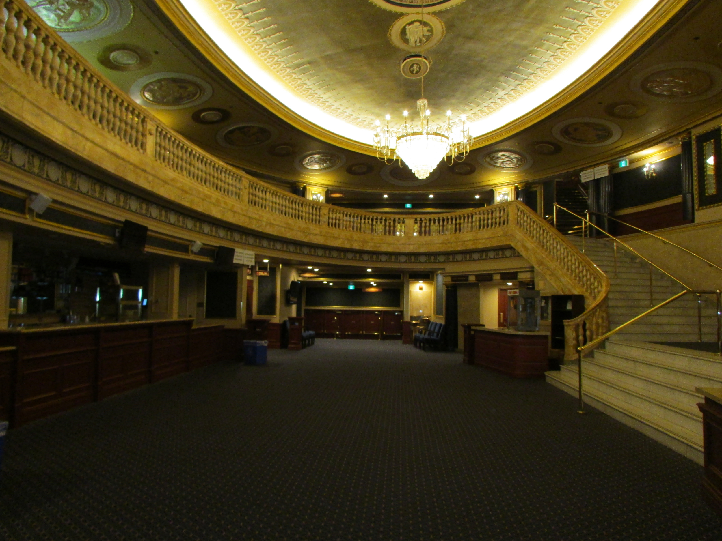 Picture of spacious lobby in theatre