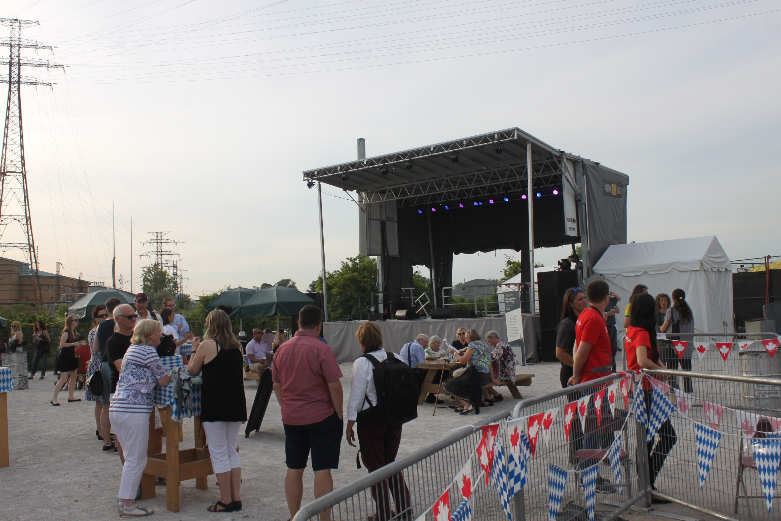 Picture of the New Canadian Music Stage