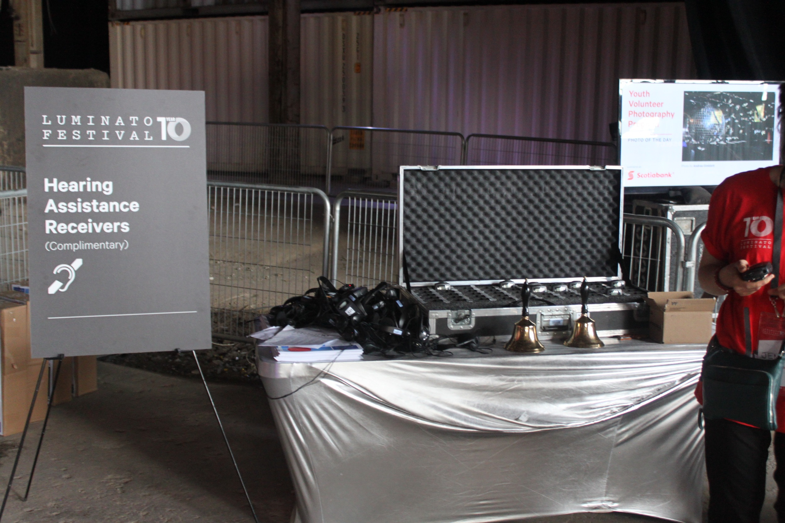 Picture of the booth containing the Hearing Assistance Receivers