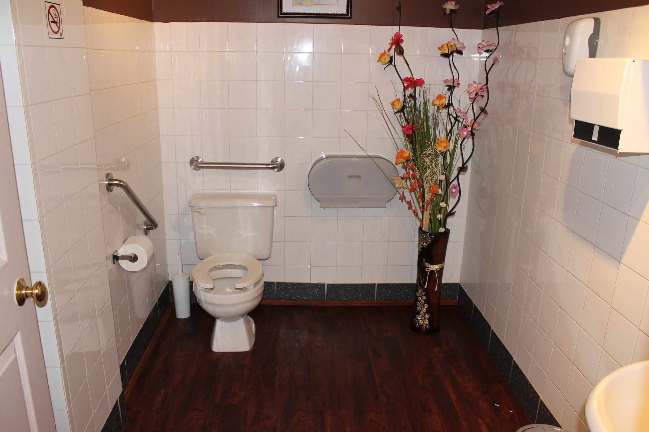 Toilet with two grab bars