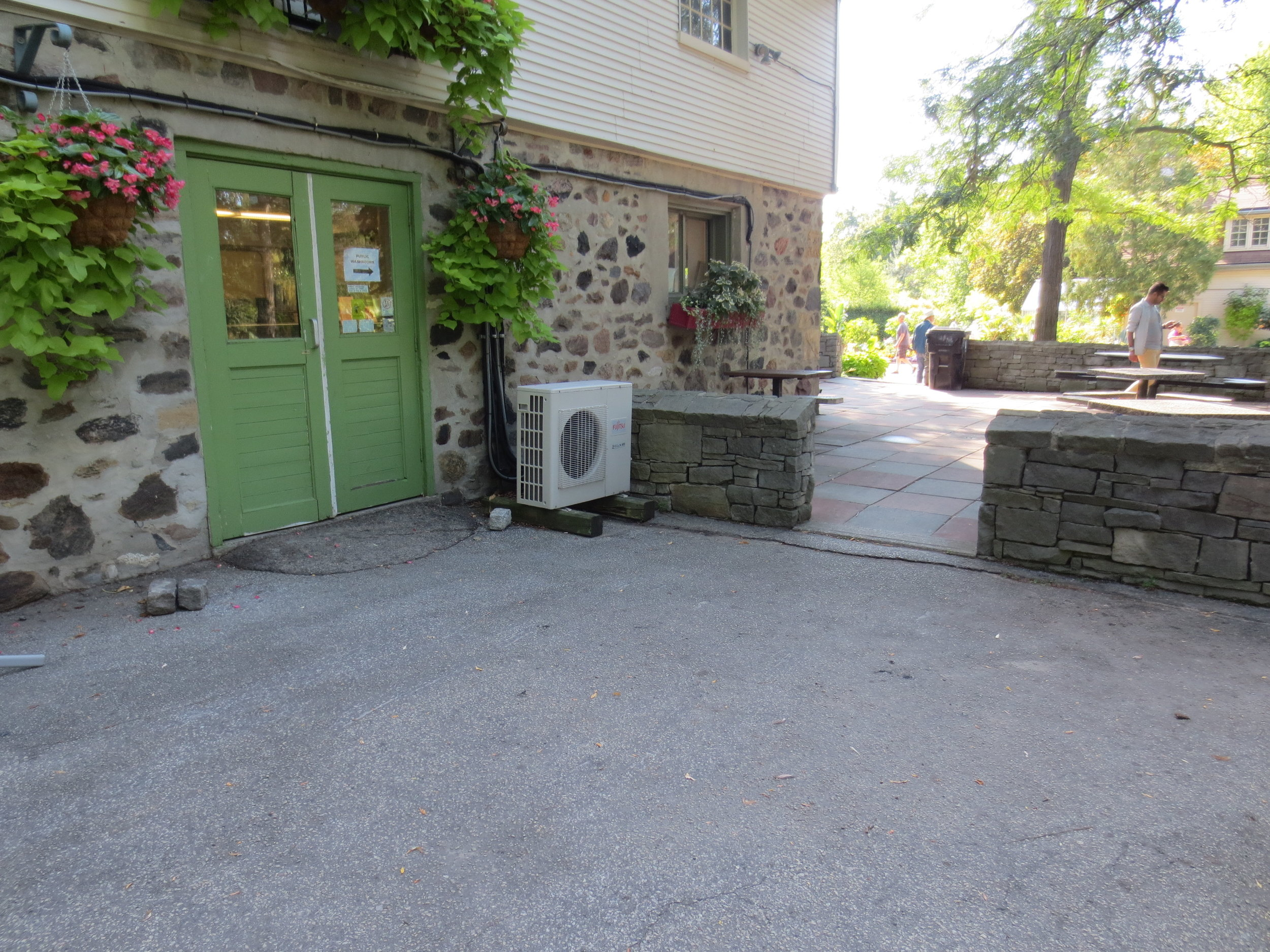 Garden cafe entrance
