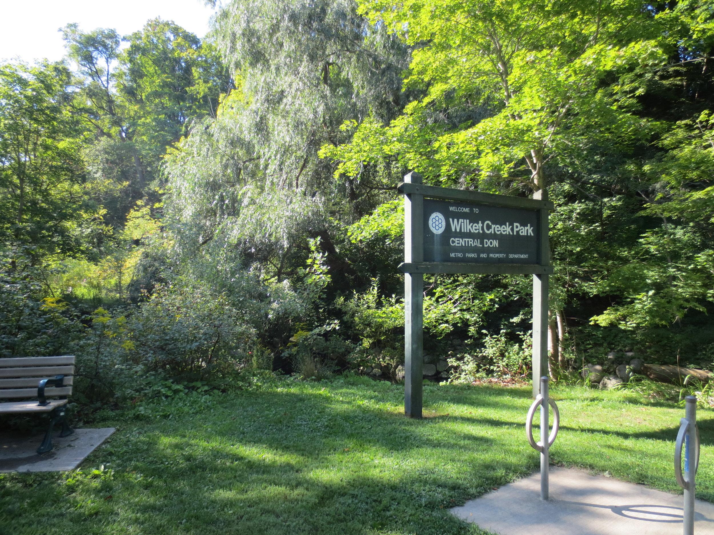 Willket Creek Sign