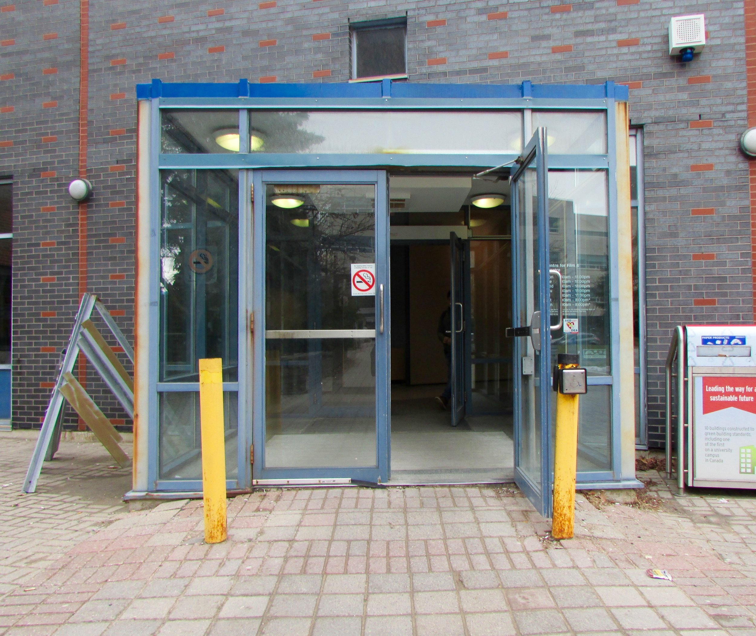 Accessible entrance to the Centre for Film and Theatre