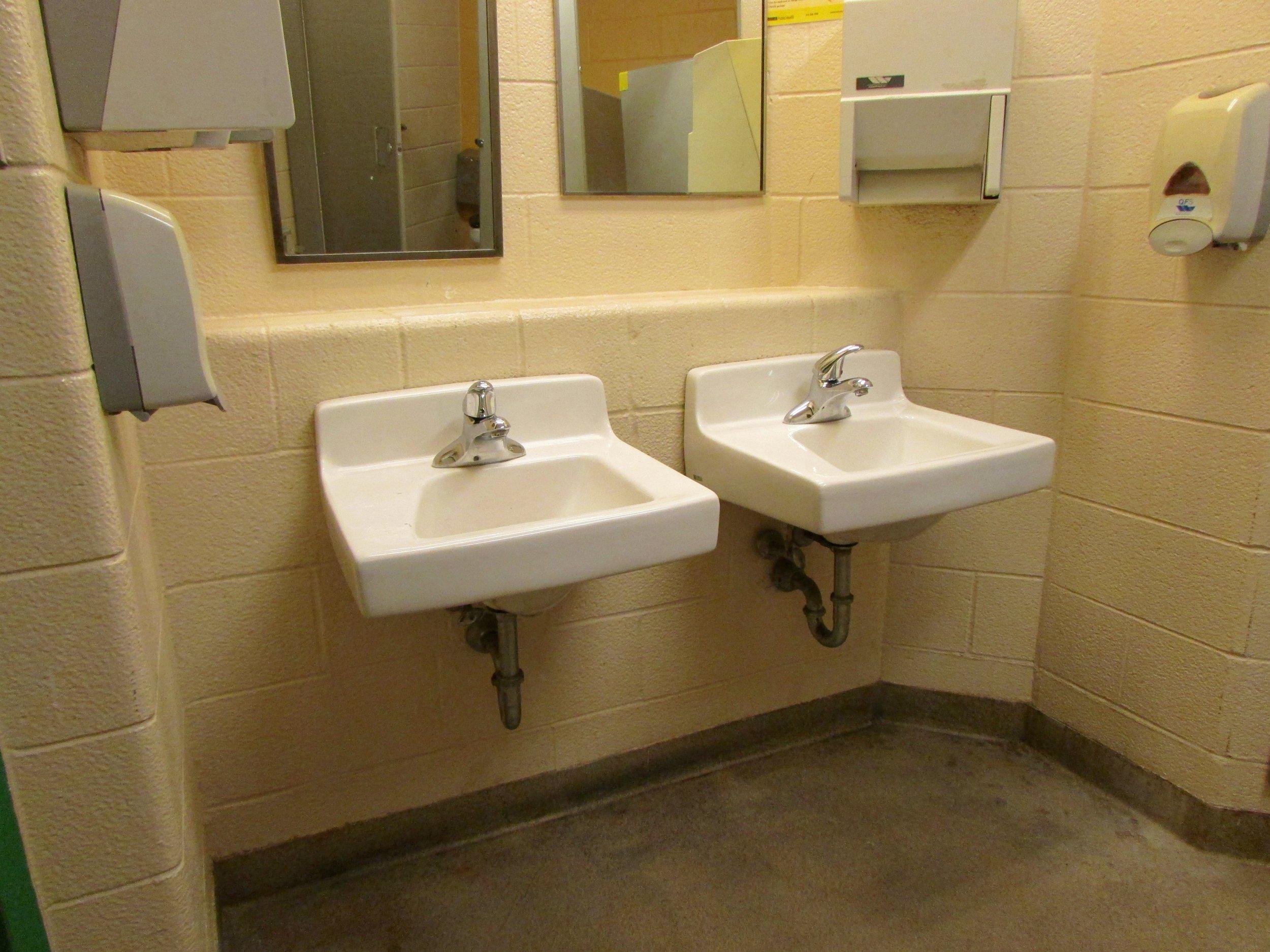 Sinks in Fine Arts Centre washroom