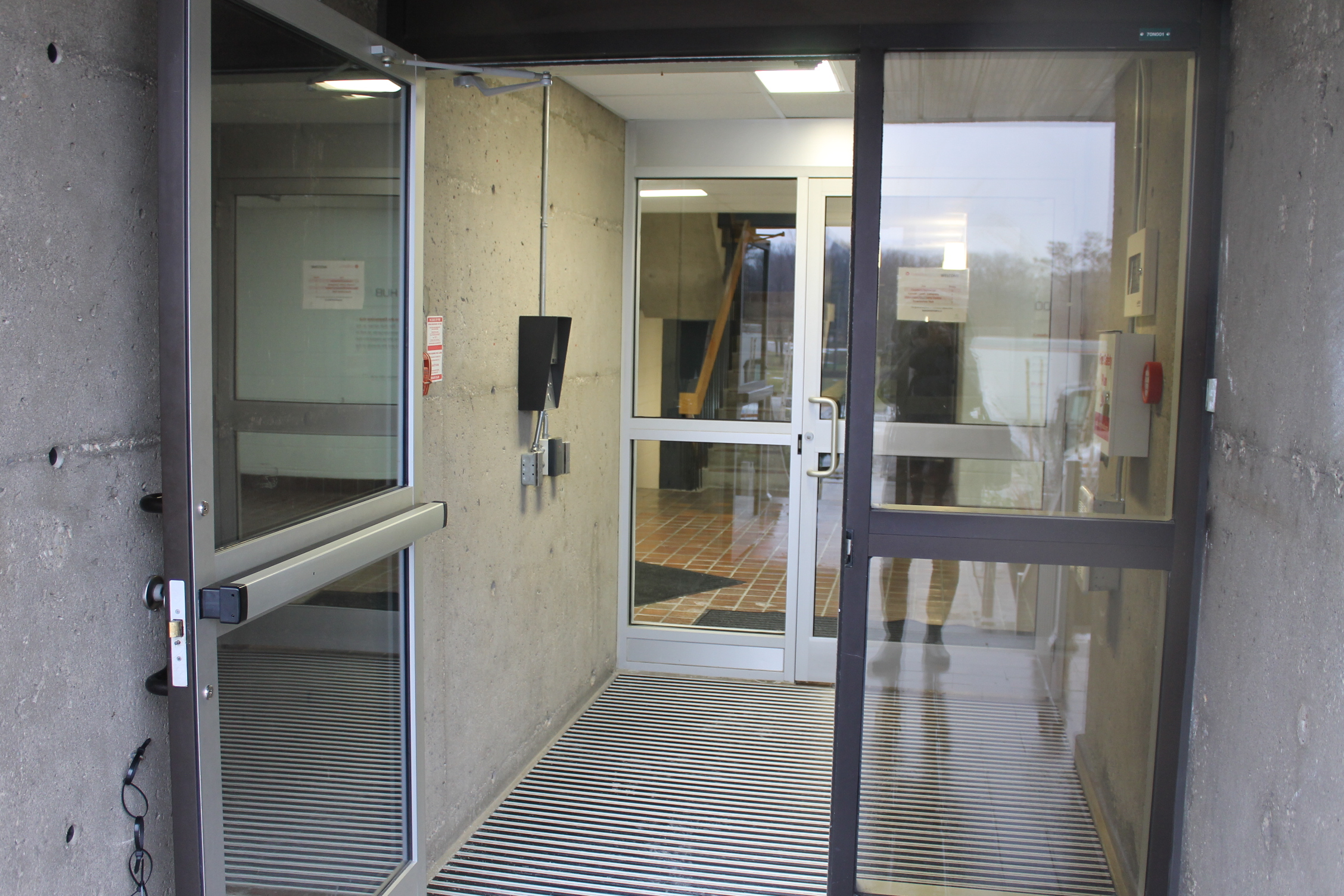 Picture of the accessible front door of the building