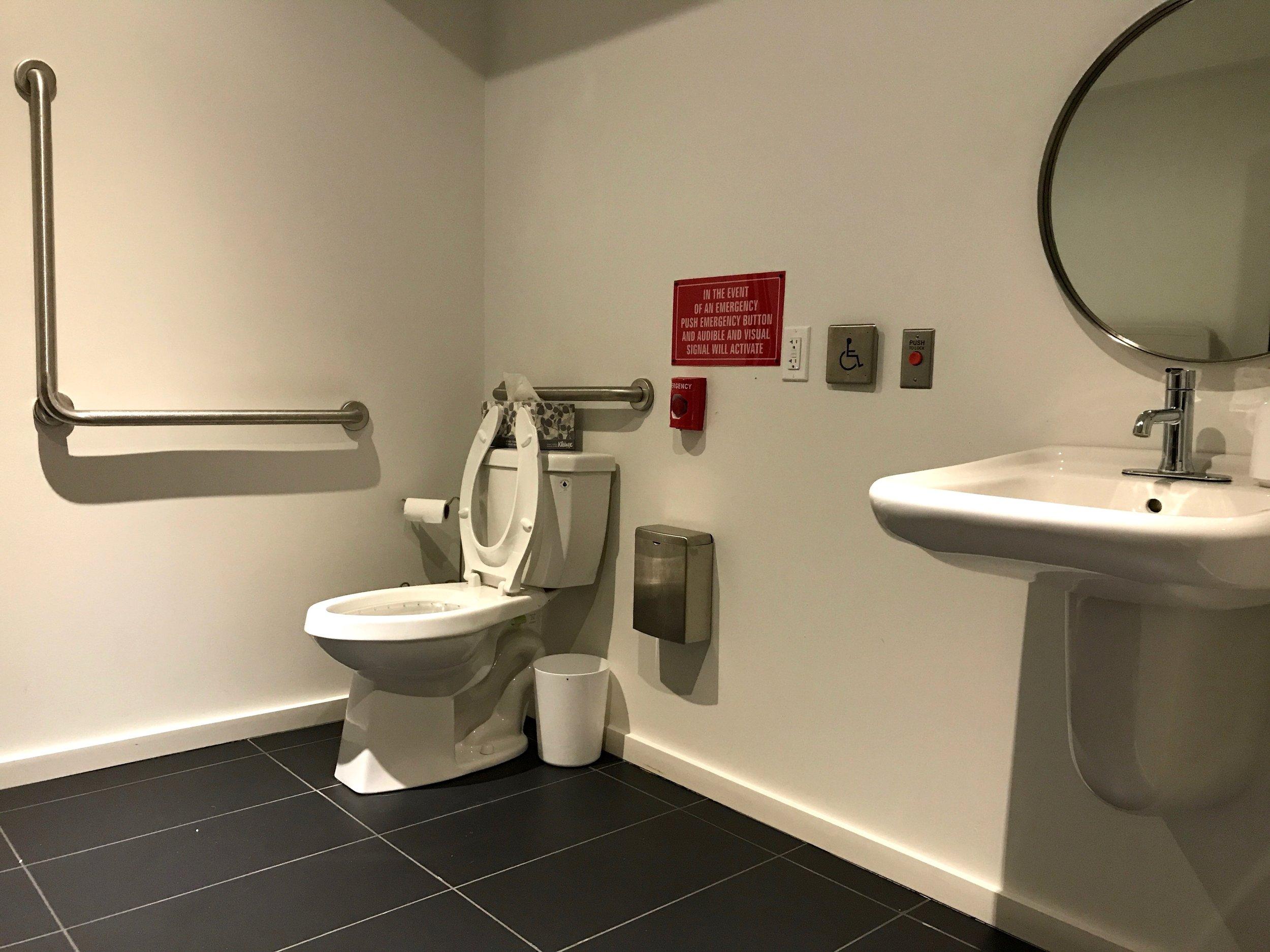 oretta restroom, sink and toilet