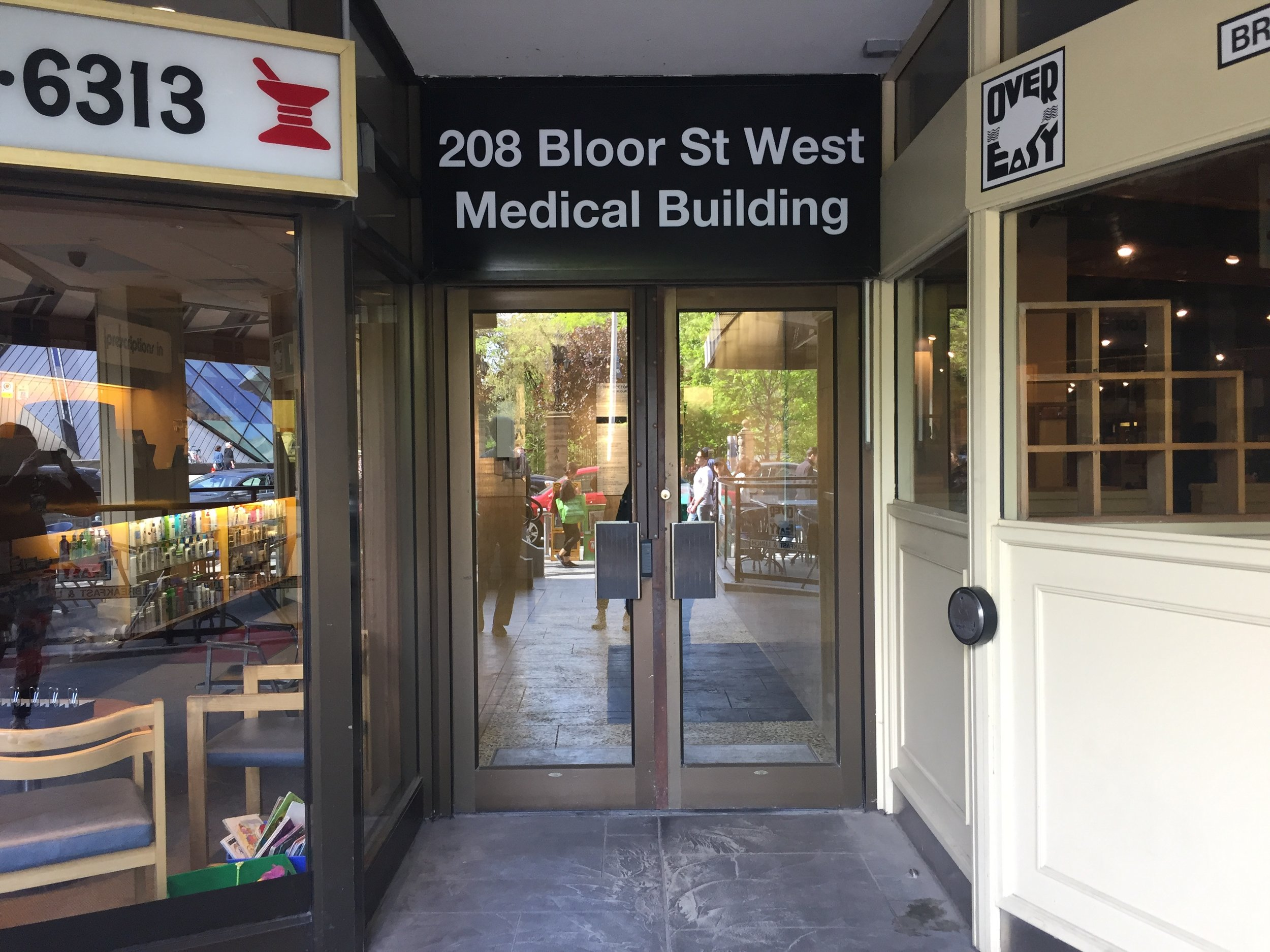 Picture of accessible entrance of the restaurant with automatic door opener