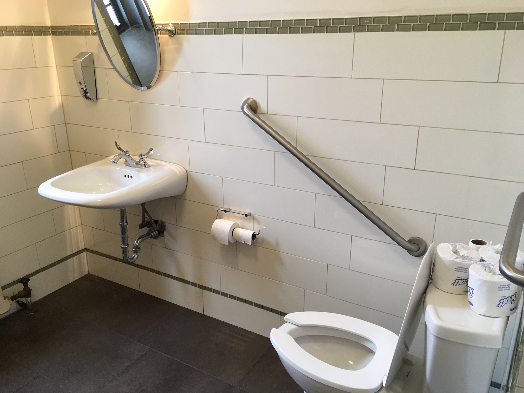 Picture of accessible washroom in Gallery Grill