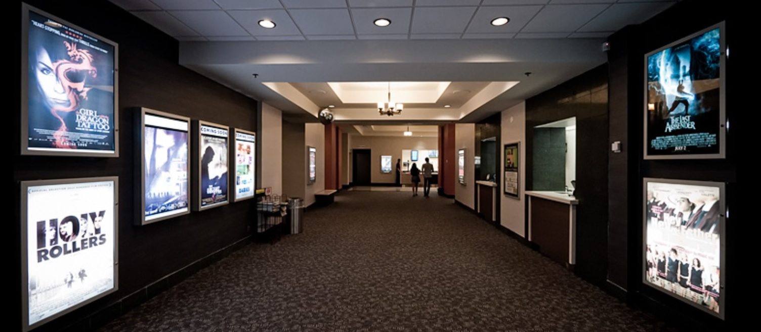 Picture of spacious lobby of theatre