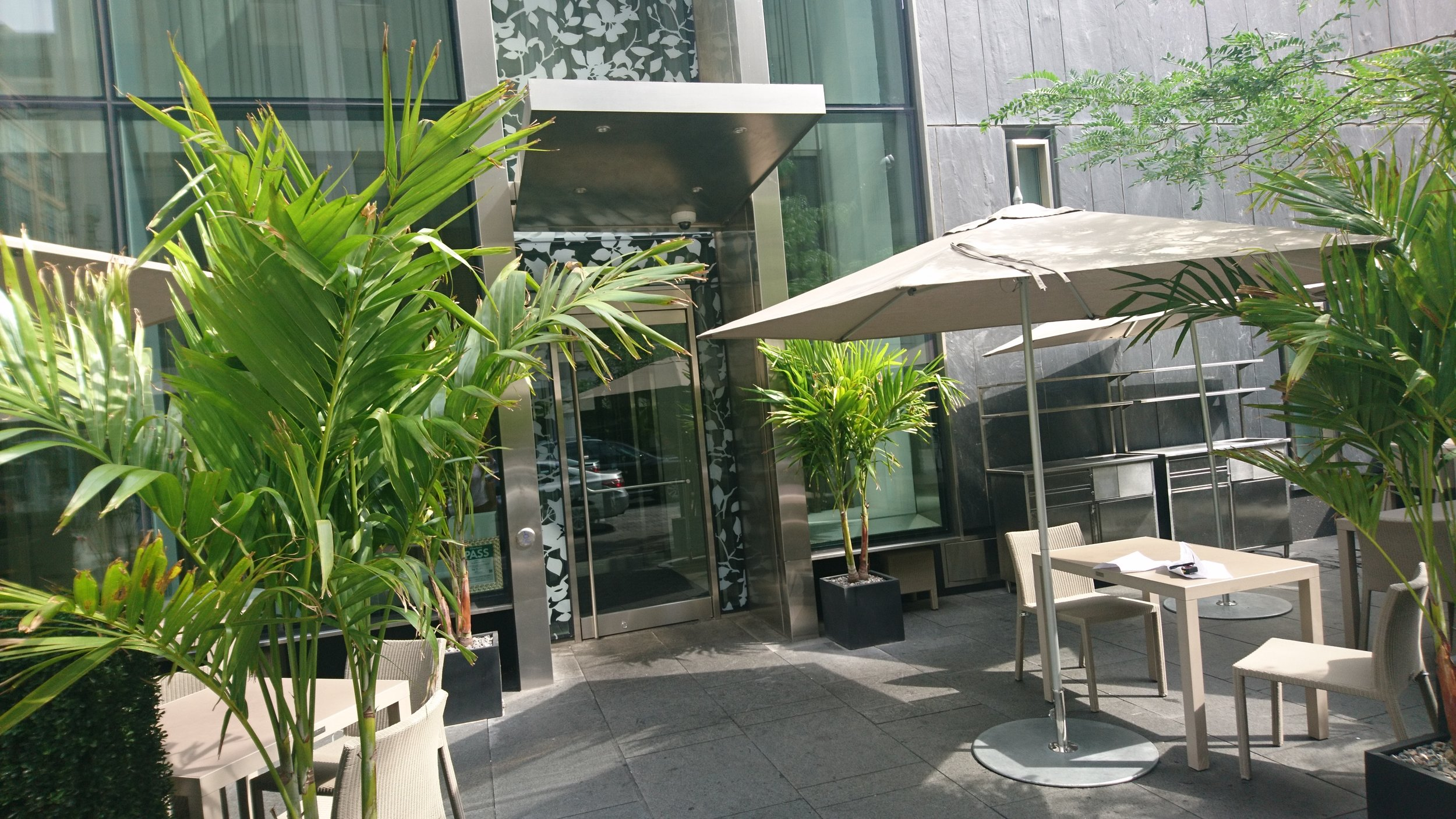Picture of accessible outdoor patio