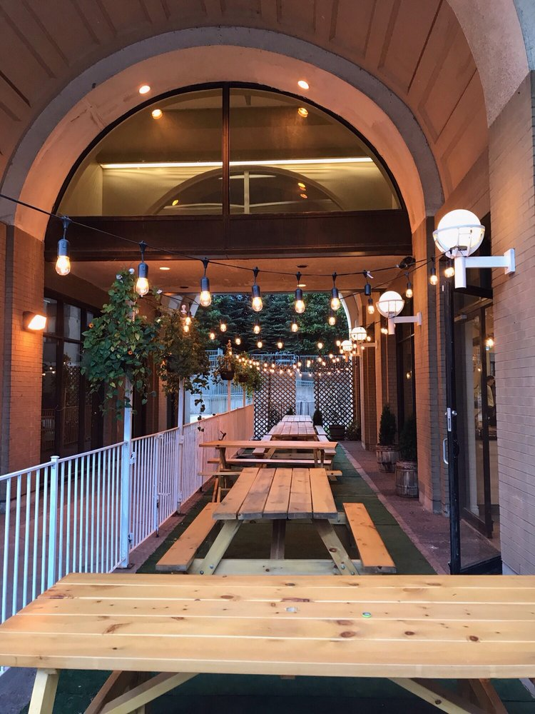 Picture of patio outside of FARMR