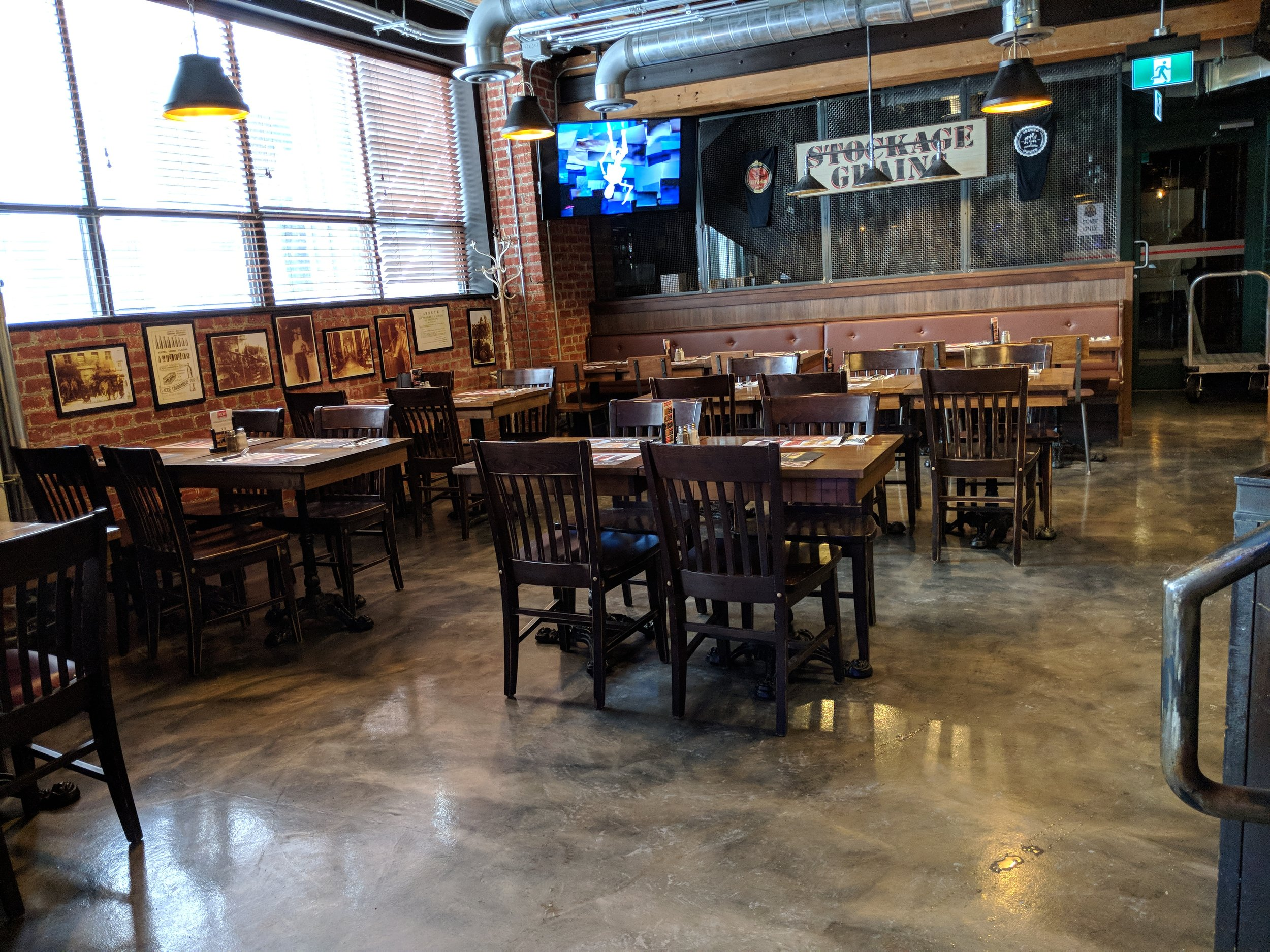 Picture of the accessible tables in the 3 brewers