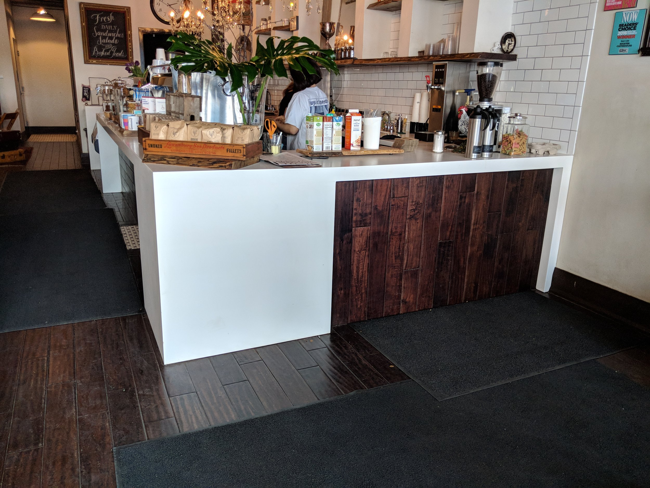 Picture of accessible interior of the Rooster Coffee House