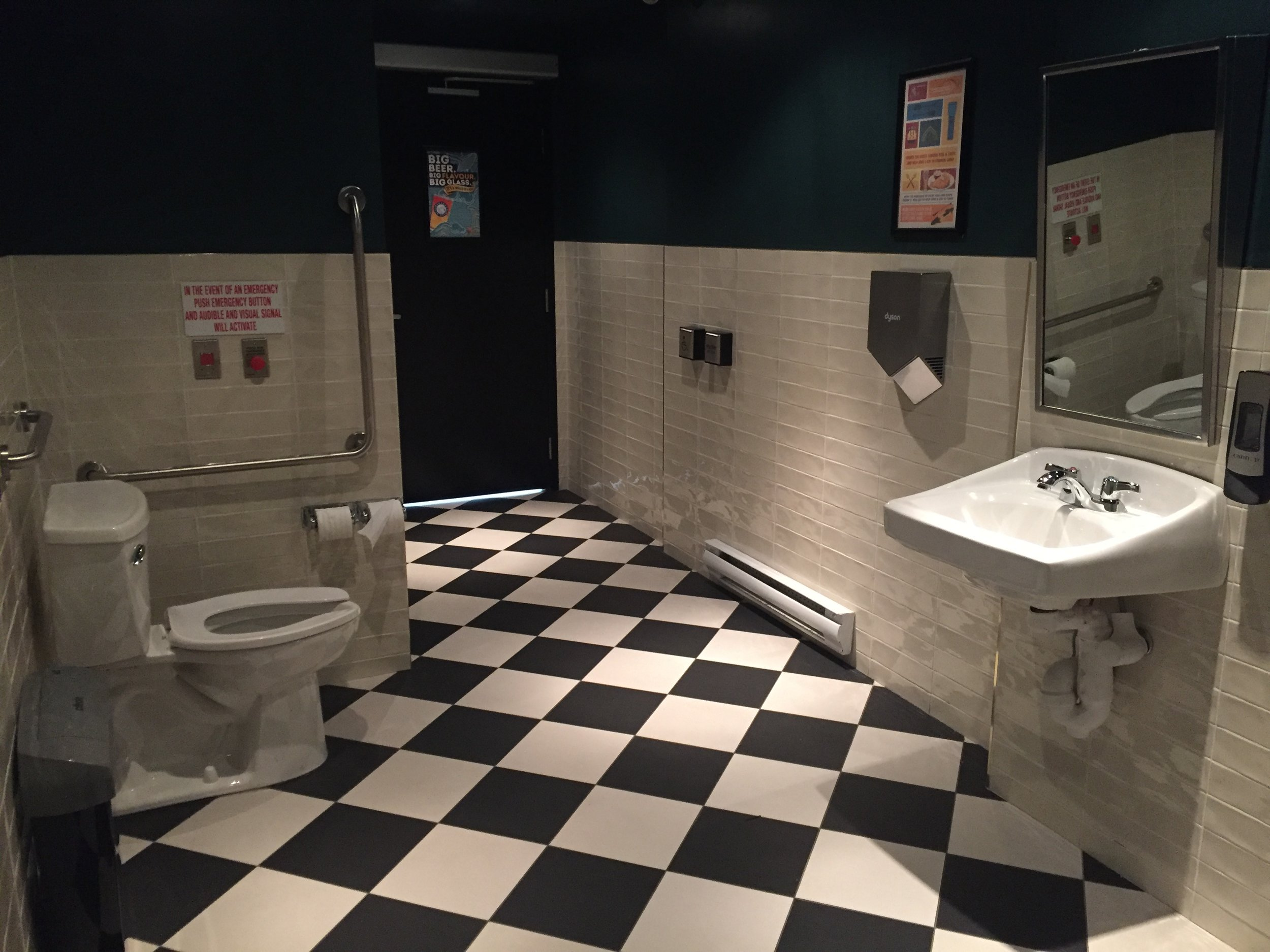 Picture of accessible washroom at the Duke of Cornwall