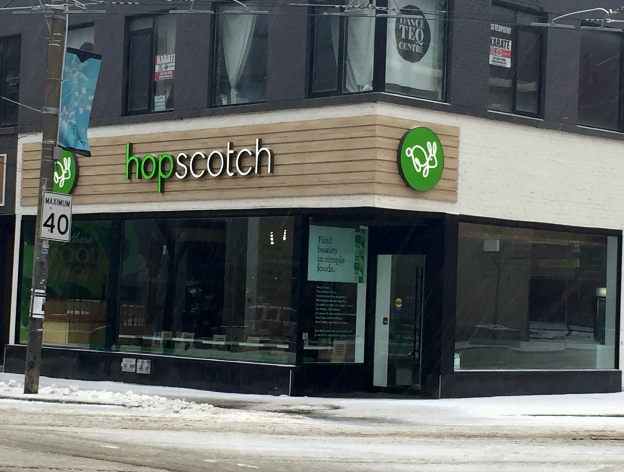 Picture of accessible entrance of Hopscotch