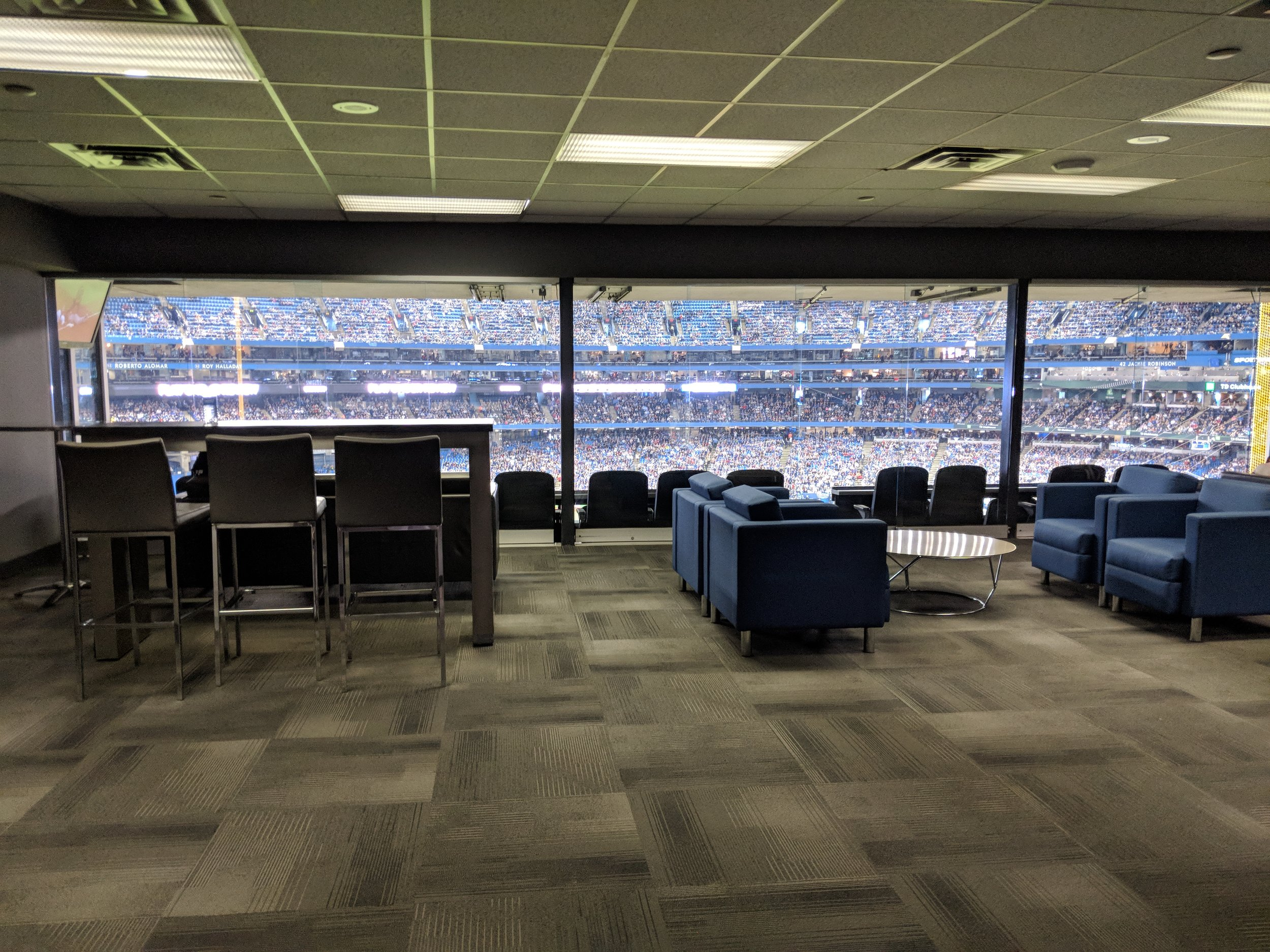 Picture of the luxury suite at the Rogers Centre