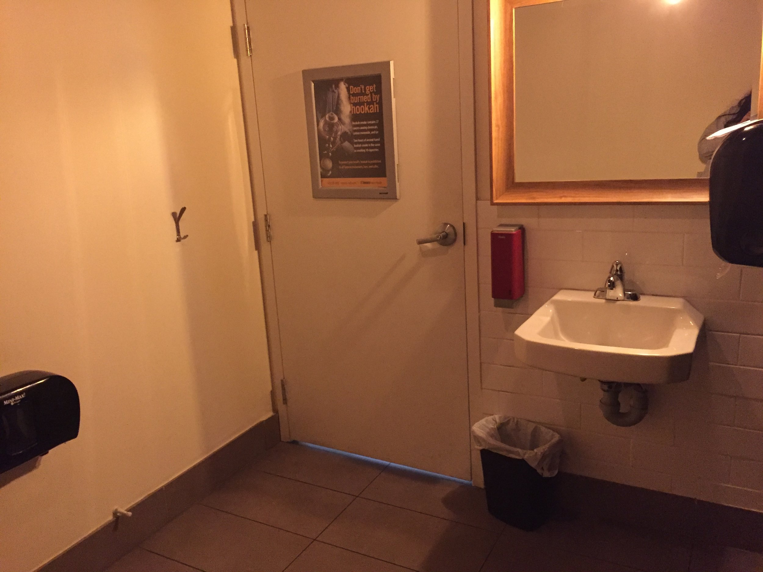 Picture of accessible washroom in the Loaded Pierogi