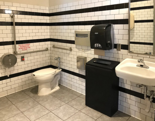 Picture of accessible washroom of Blaze Pizza