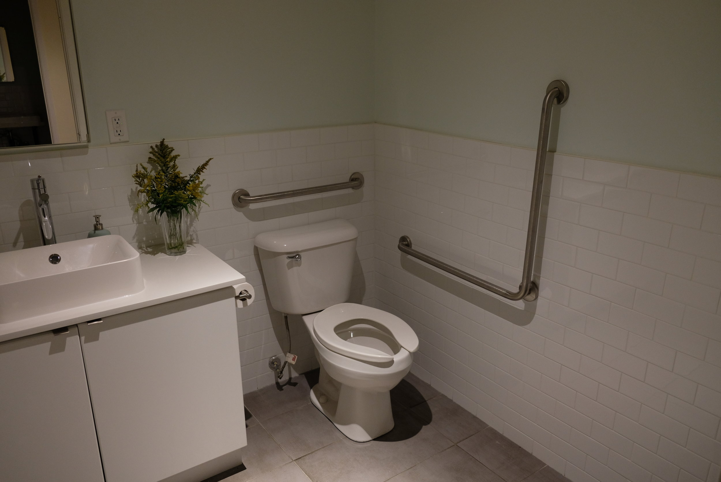 Picture of accessible washroom at Alma