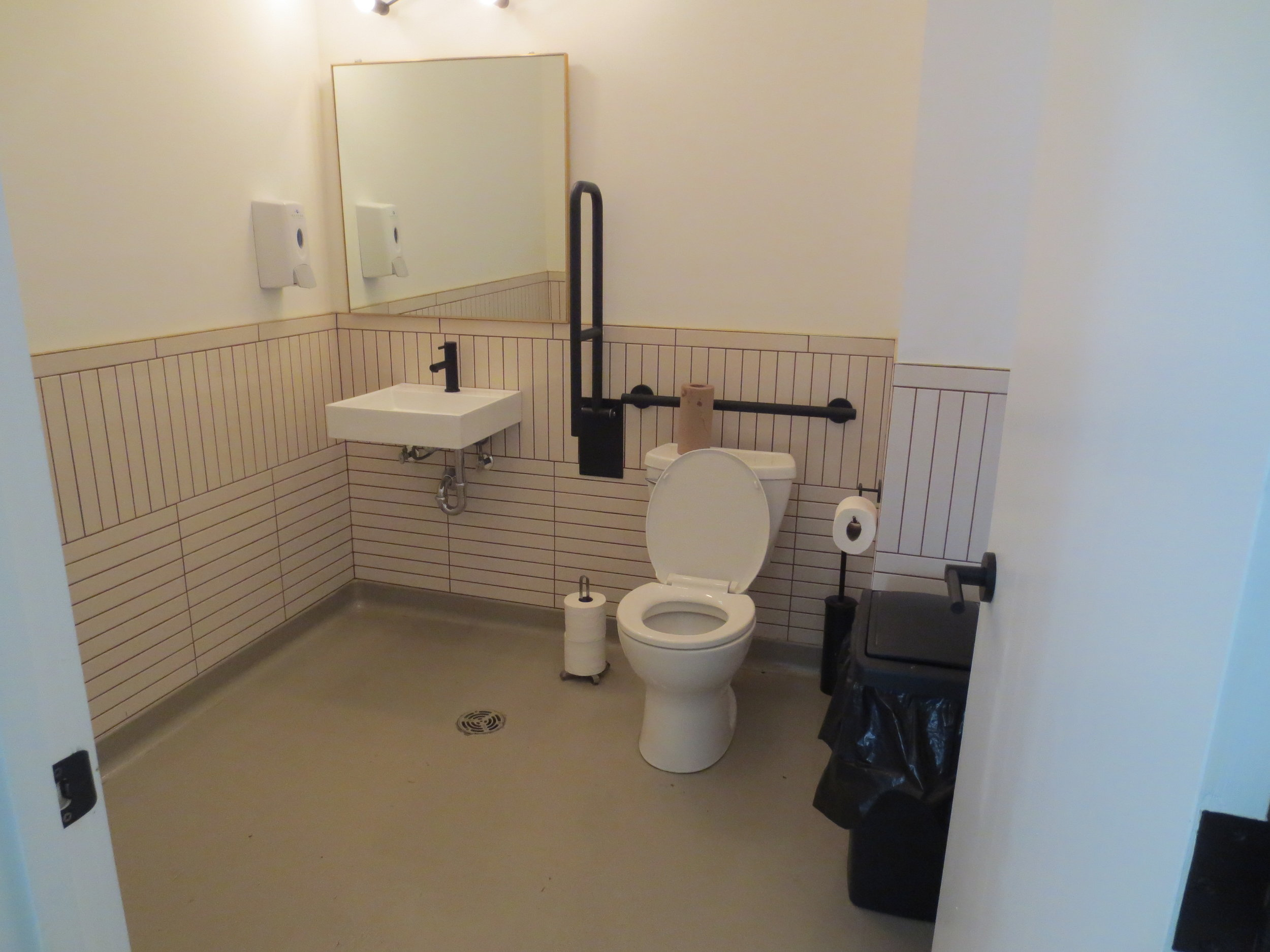 Picture of accessible washroom at The Goods