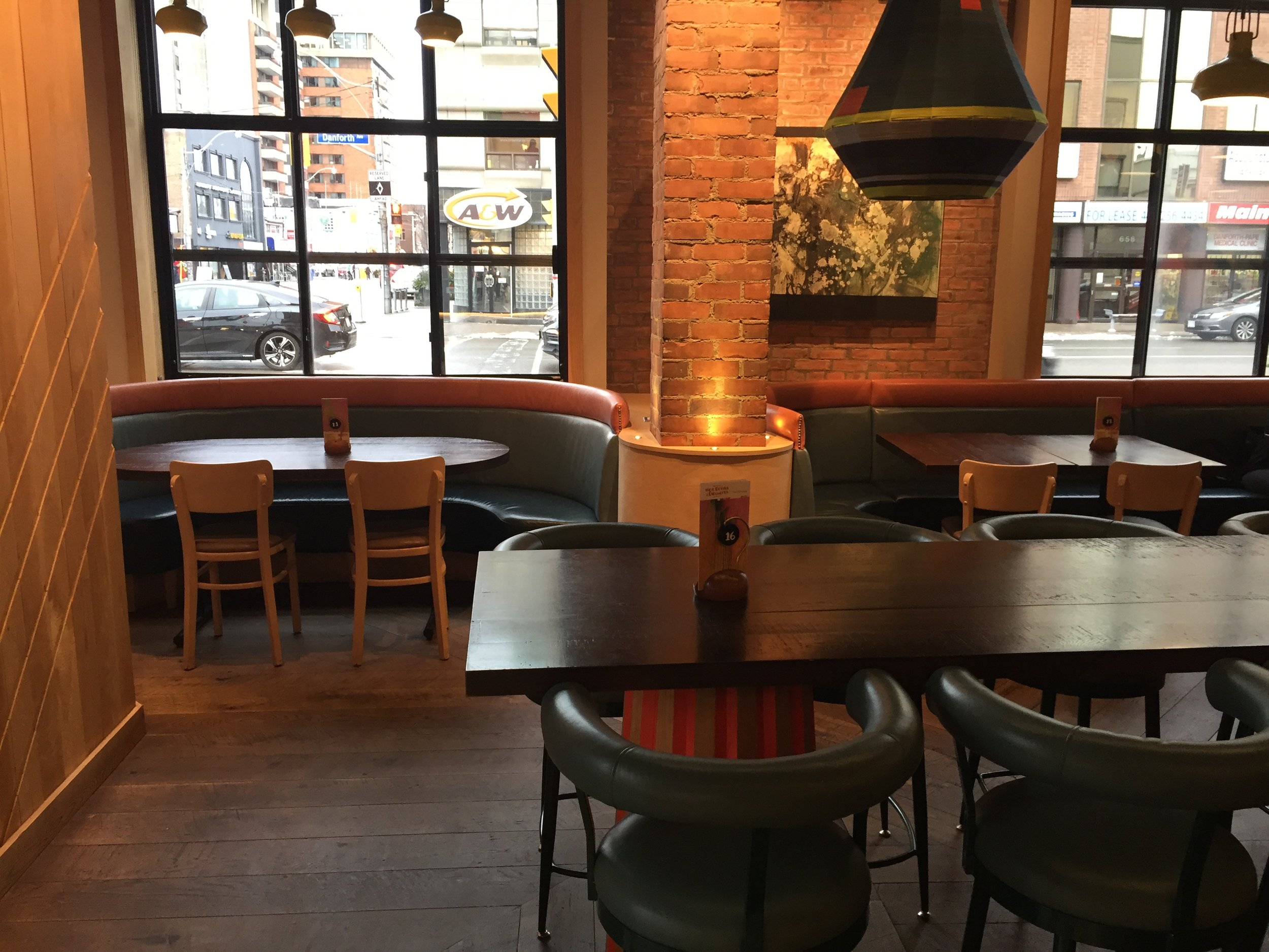 Picture of accessible seating at Nando's Danforth