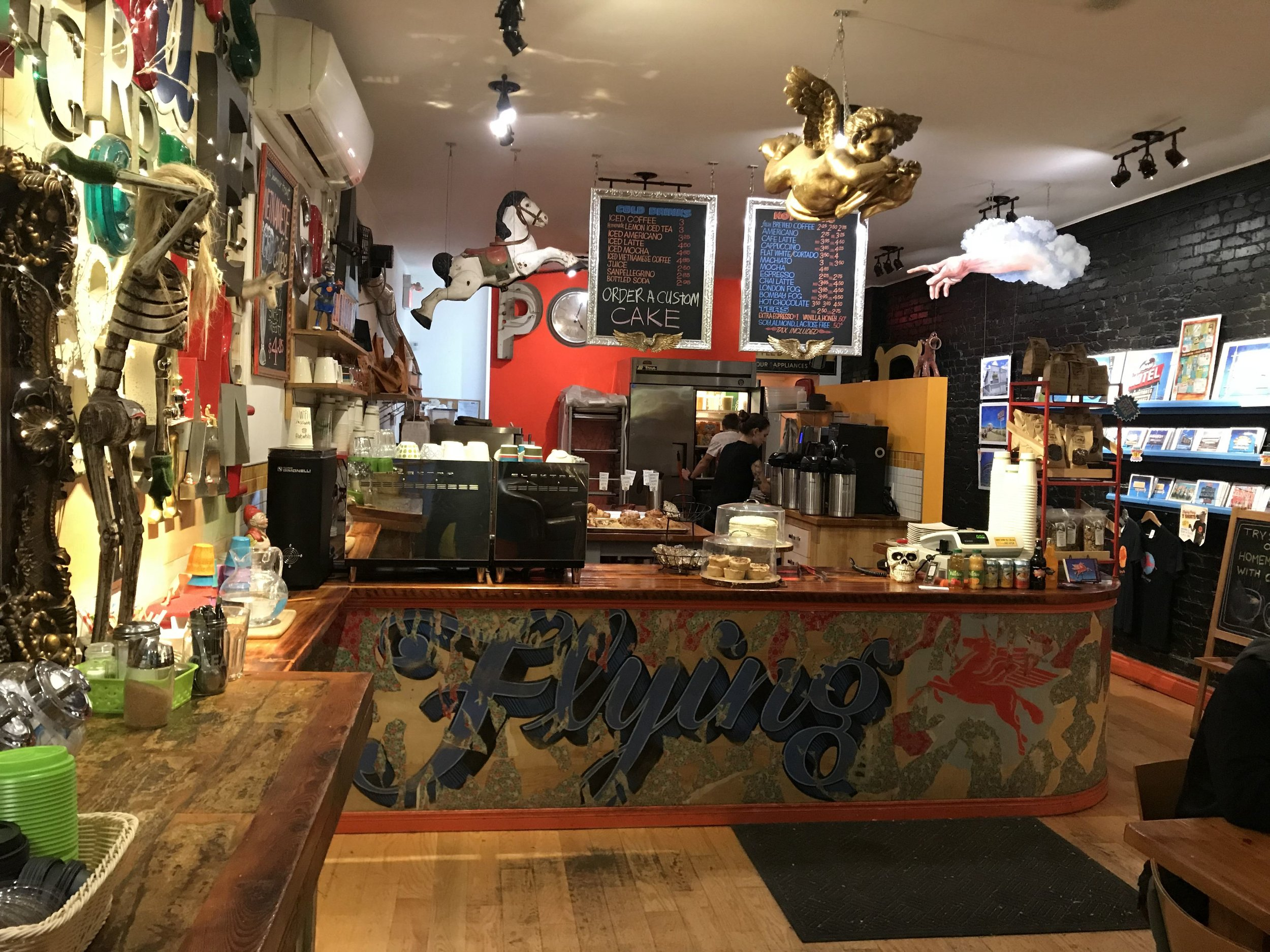 Picture of the service counter at the Flying Pony