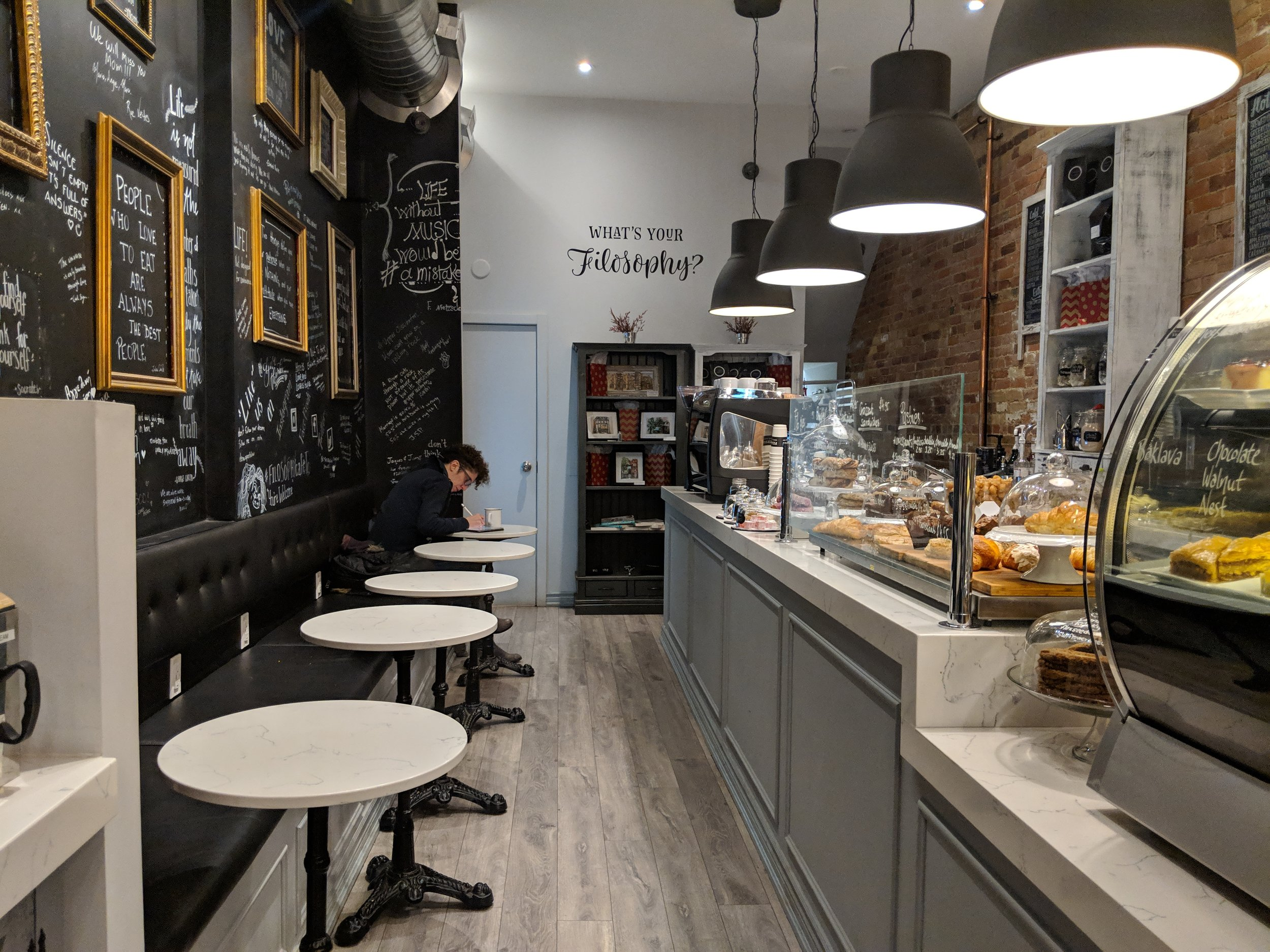 Picture of accessible tables in Filosophy Pastry and Espresso Bar