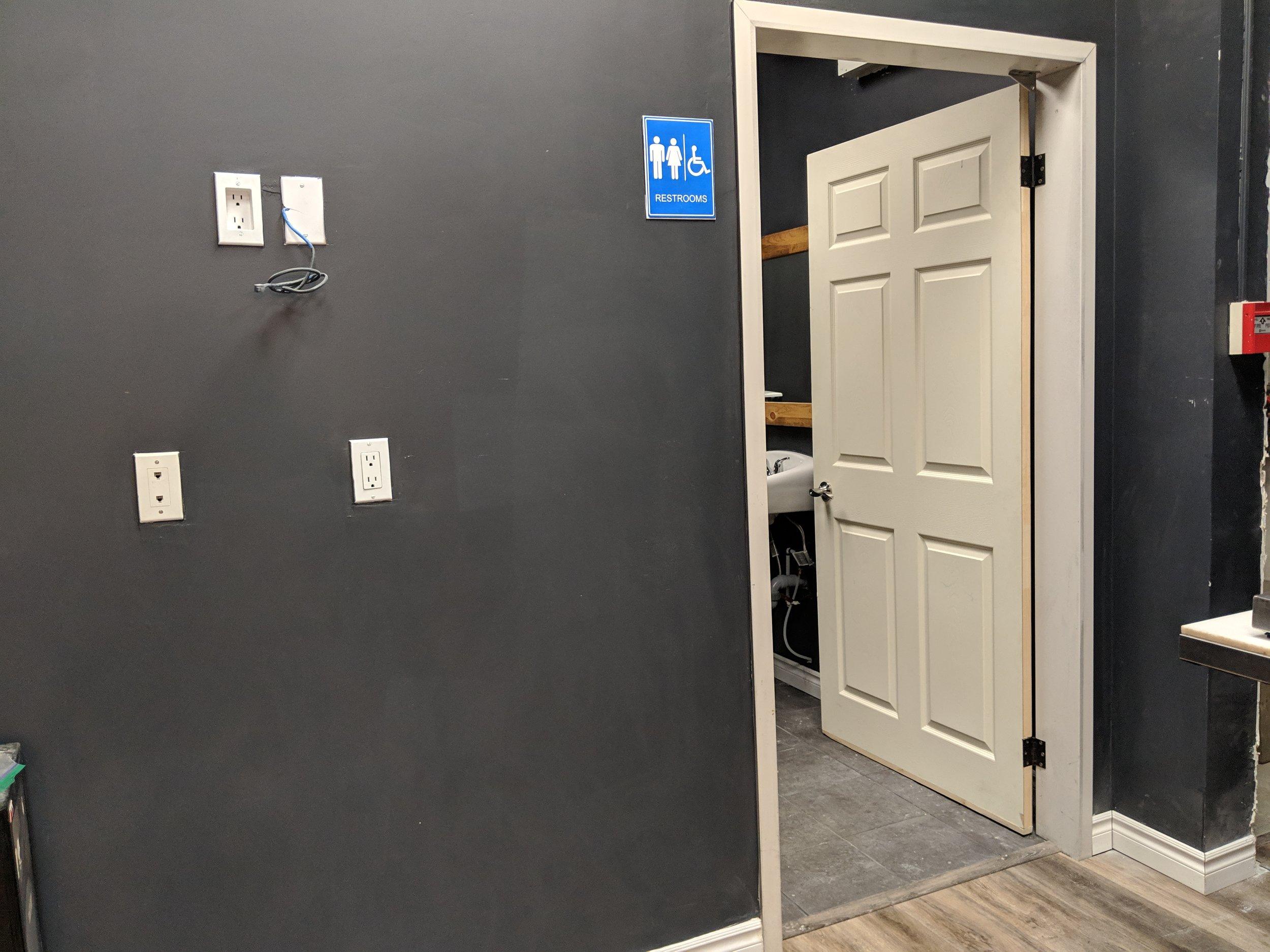 Picture of wide door width of bathroom