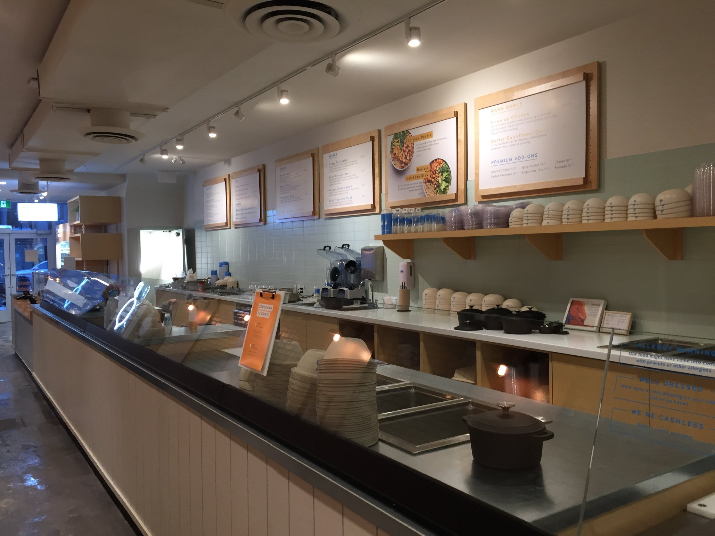 Picture of service counter with menu at Mad Radish