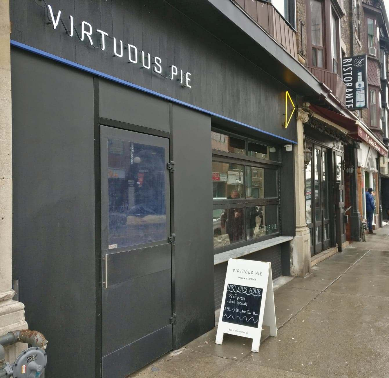 Picture of accessible entrance of Virtuous Pie