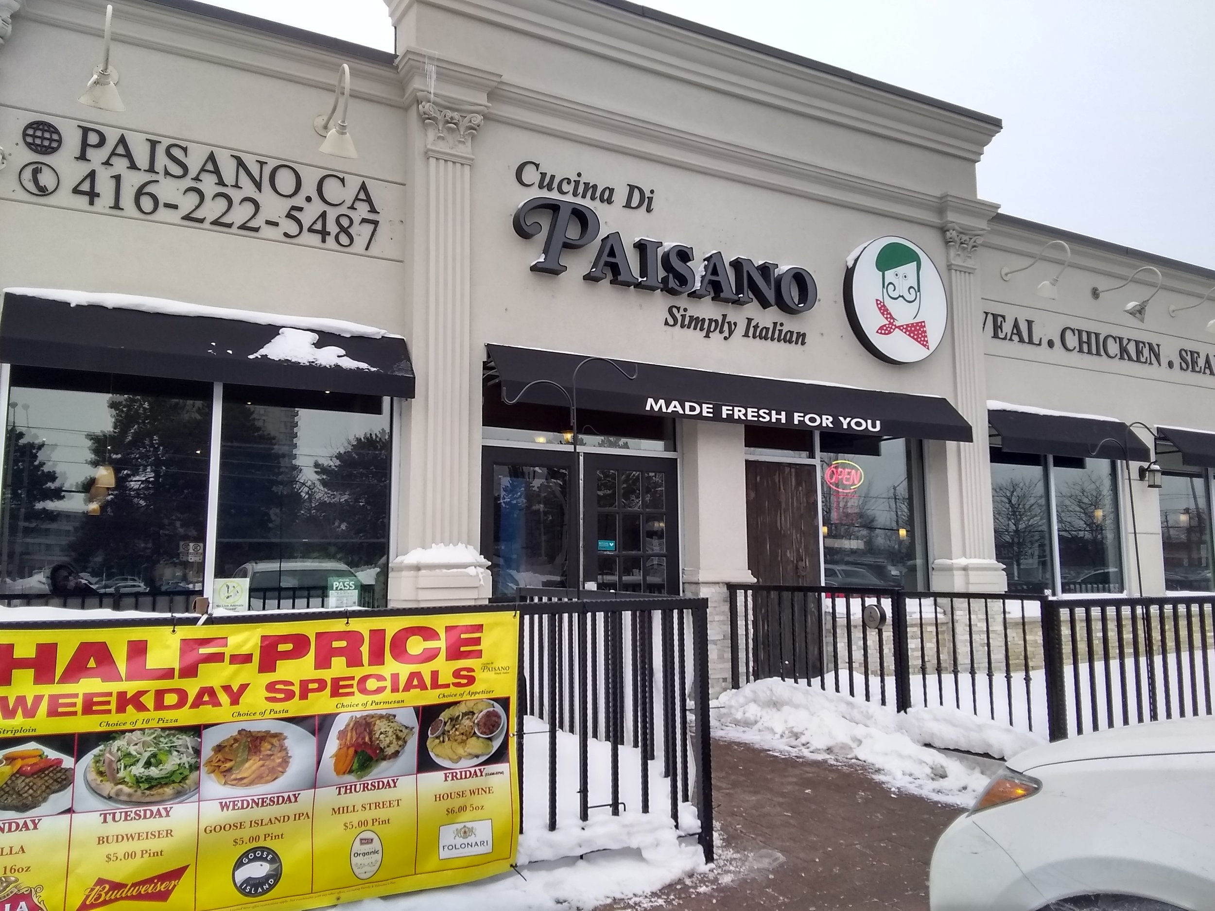 Picture of accessible entrance to Paisano