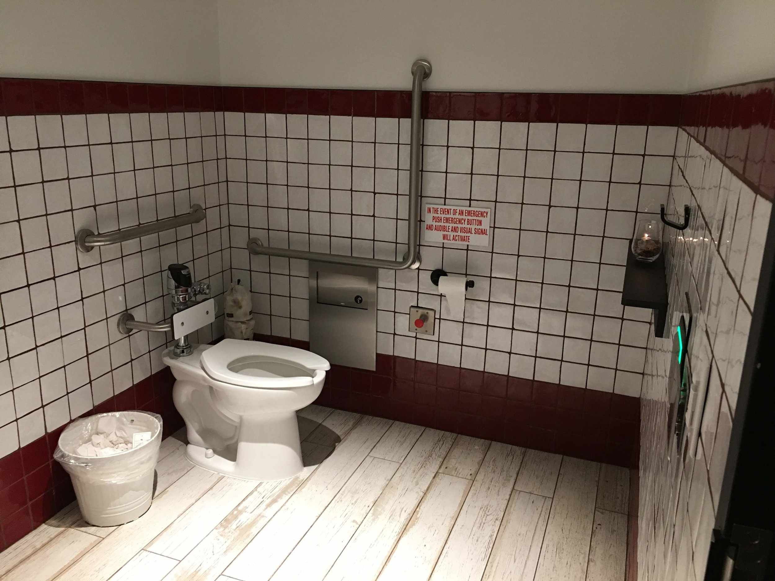 Picture of accessible washroom at Amano Pasta