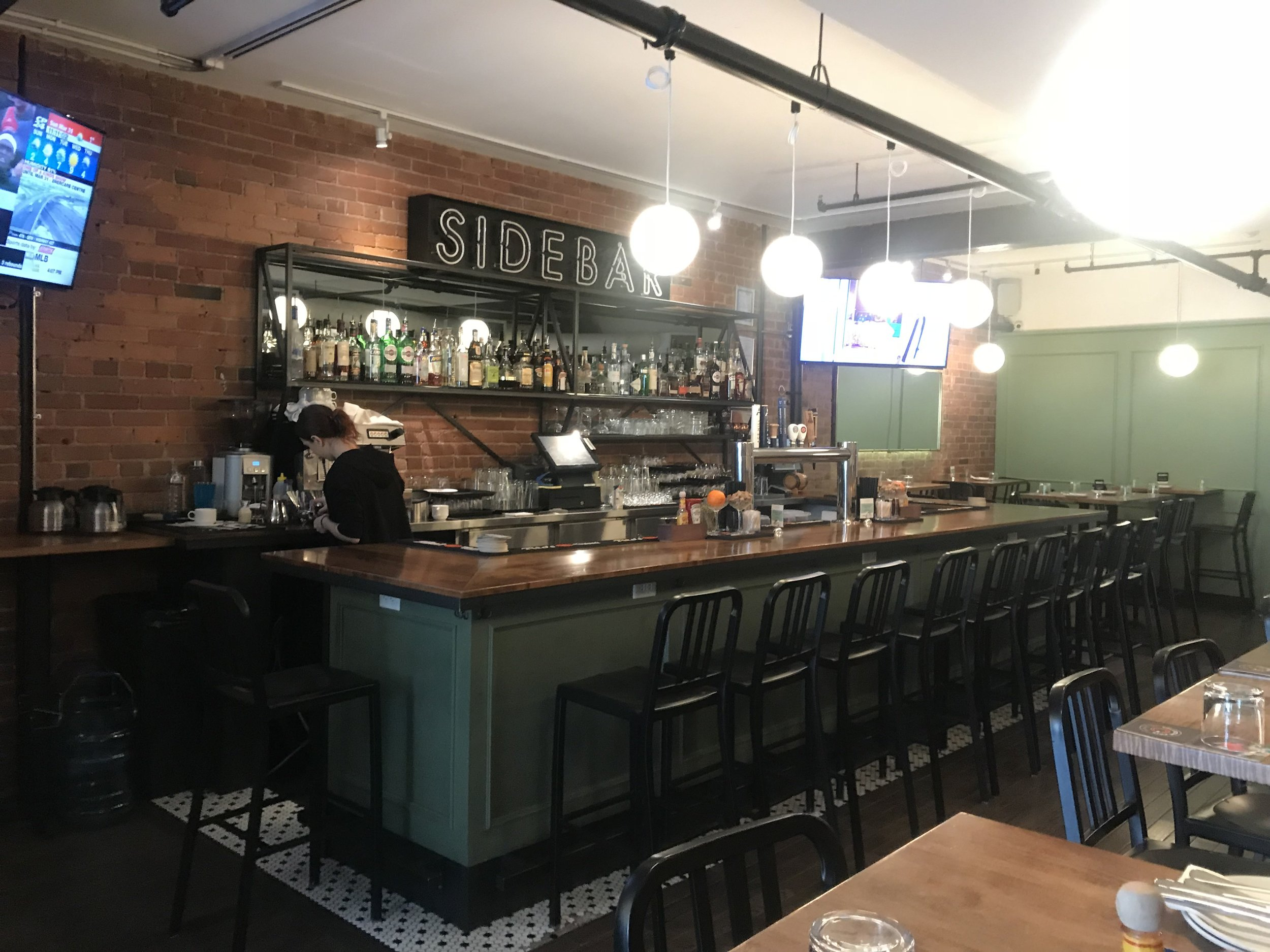 Picture of bar height stools at Sidebar
