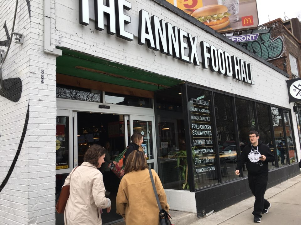 Picture of the accessible entrance at the Annex Food Hall