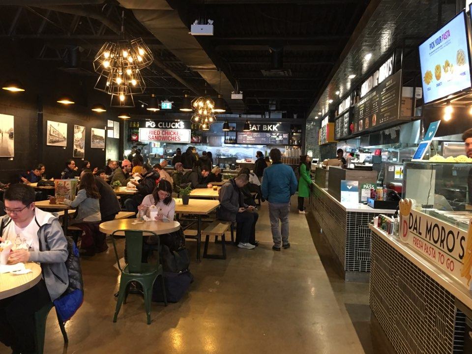 Picture of the interior eating area in the Annex Food Hall