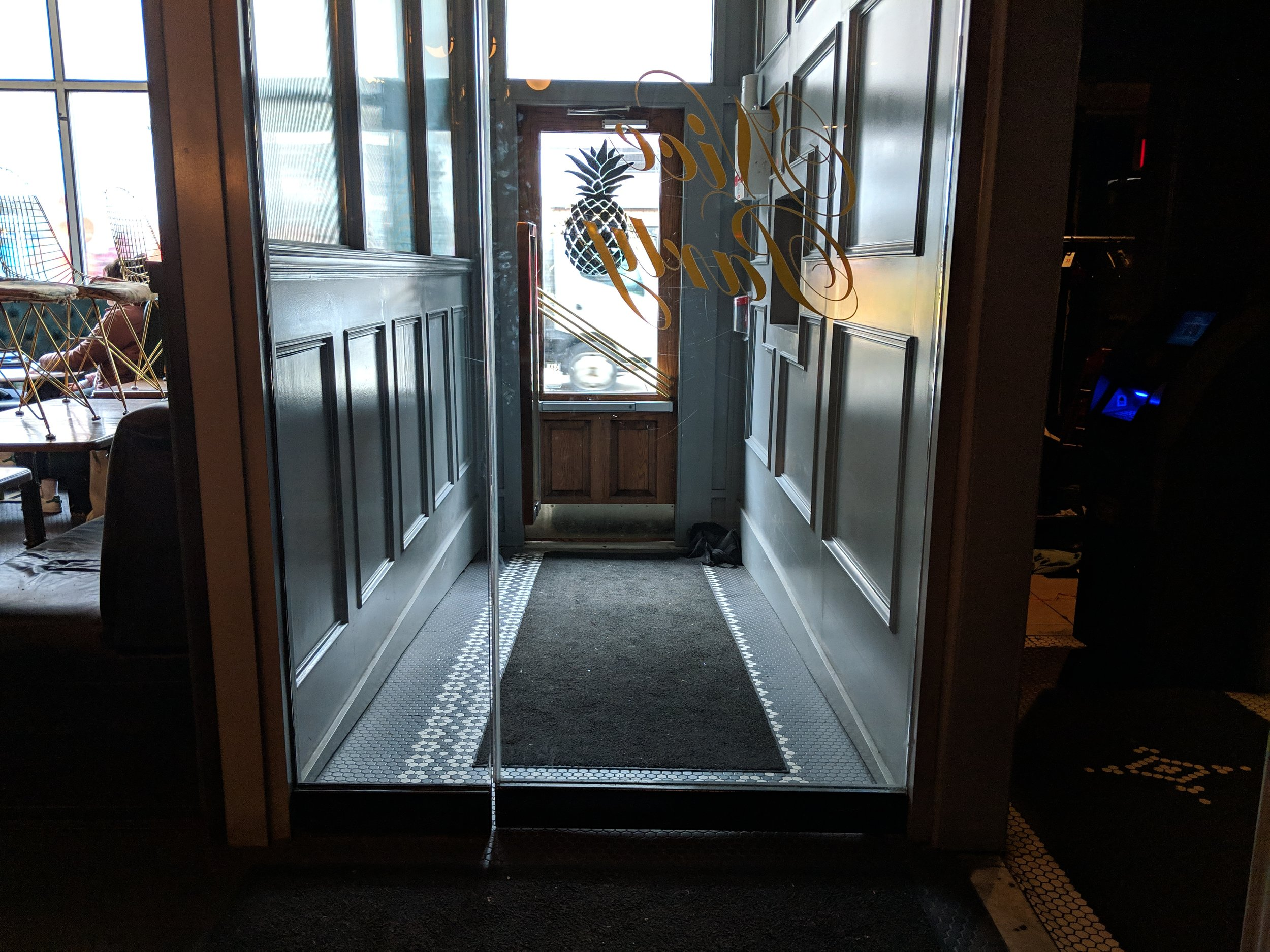 Picture of the second accessible door at Miss Thing's