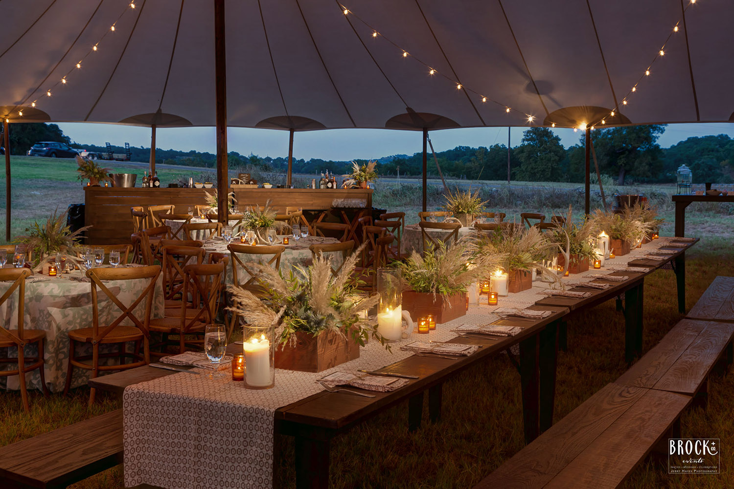 elegant Texas tent reception