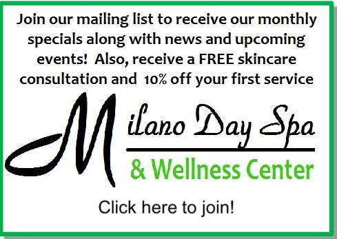 milano day spa mailing list cta