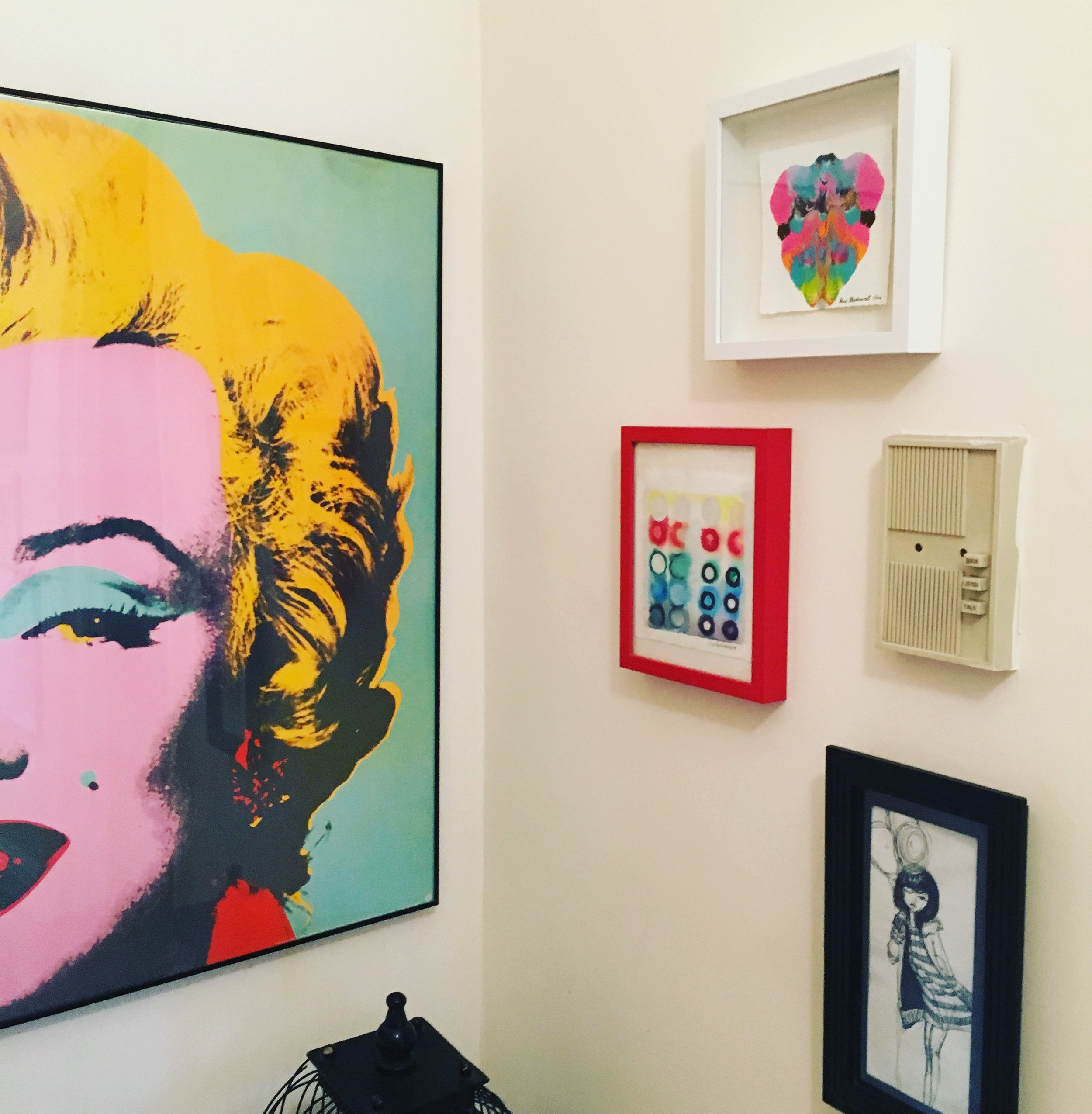 In Manhattan, a petite work of Max's is complimented by a classic Marilyn Monroe piece by Andy Warhol.