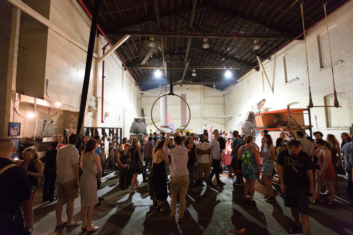 Piece large scale works on display at the Gowanus Ballroom Exhibit with over 6500 square feet, 20 artists,and 1000 people in attendance over the 2 weeks period.
