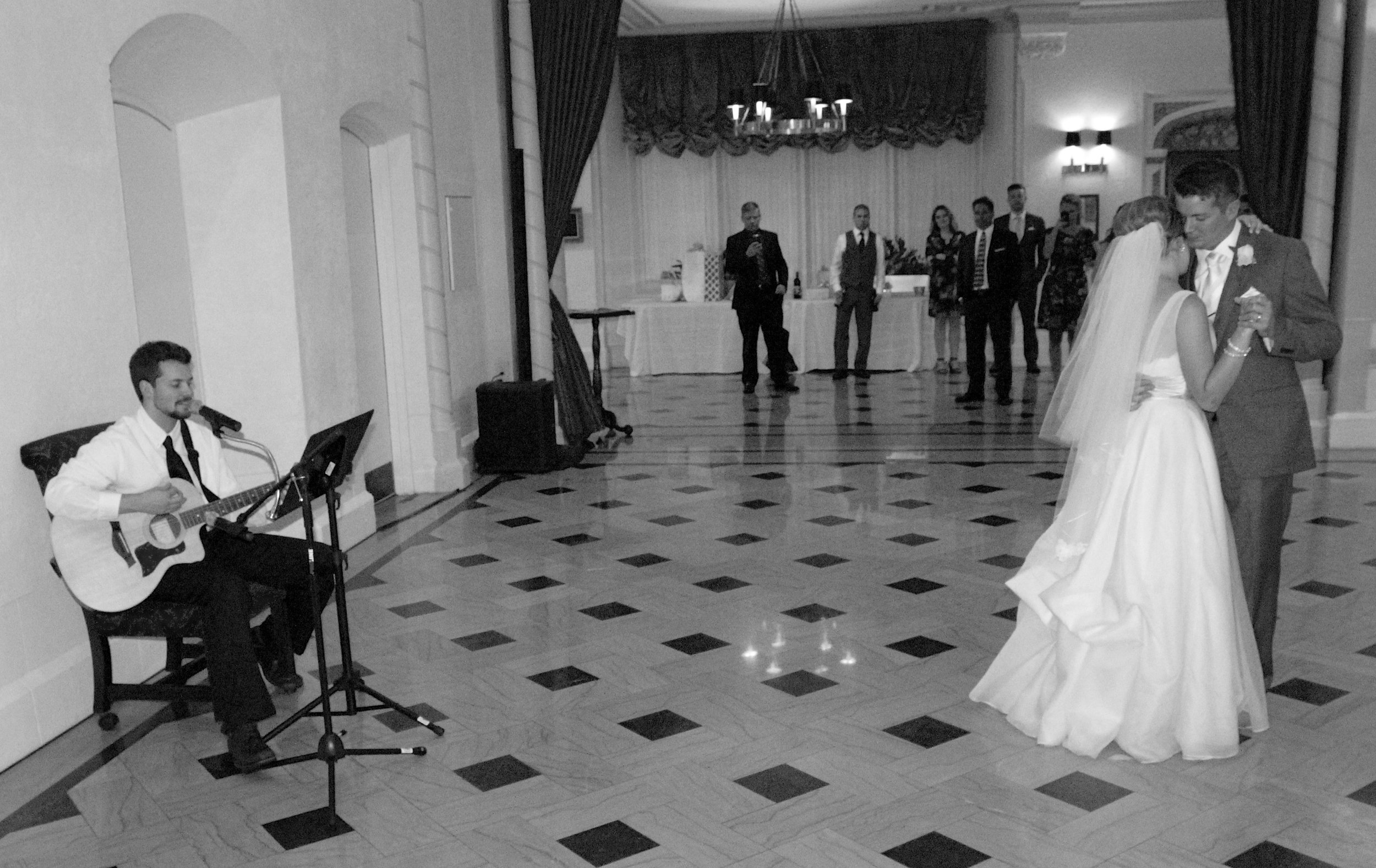 When your 1st dance is sung LIVE by FRANK HURD! Buy  his music  on iTunes!