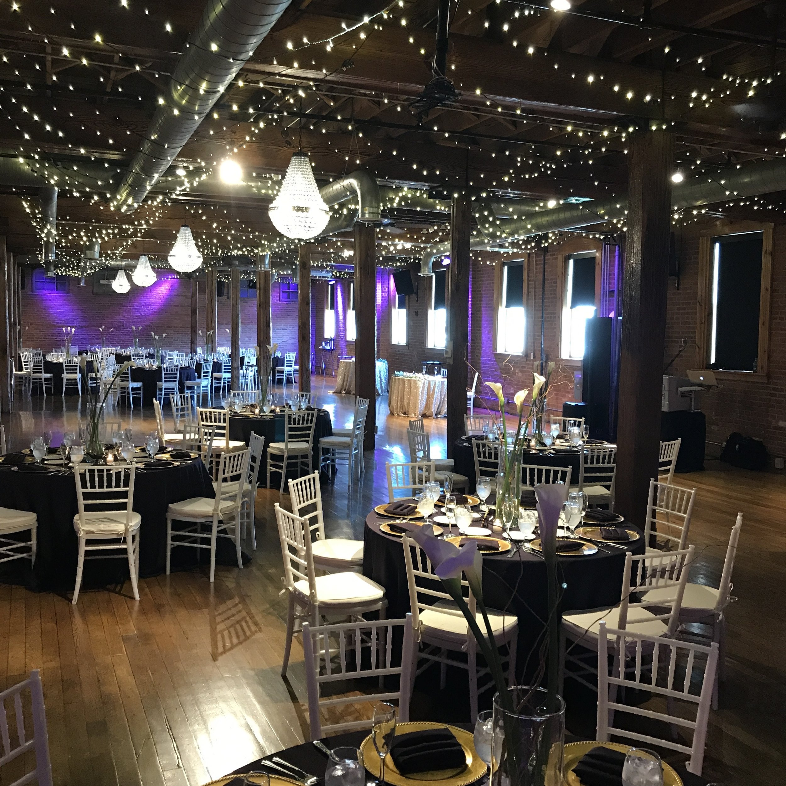 The Mavris 2nd floor ballroom set for Kate & Chris' reception