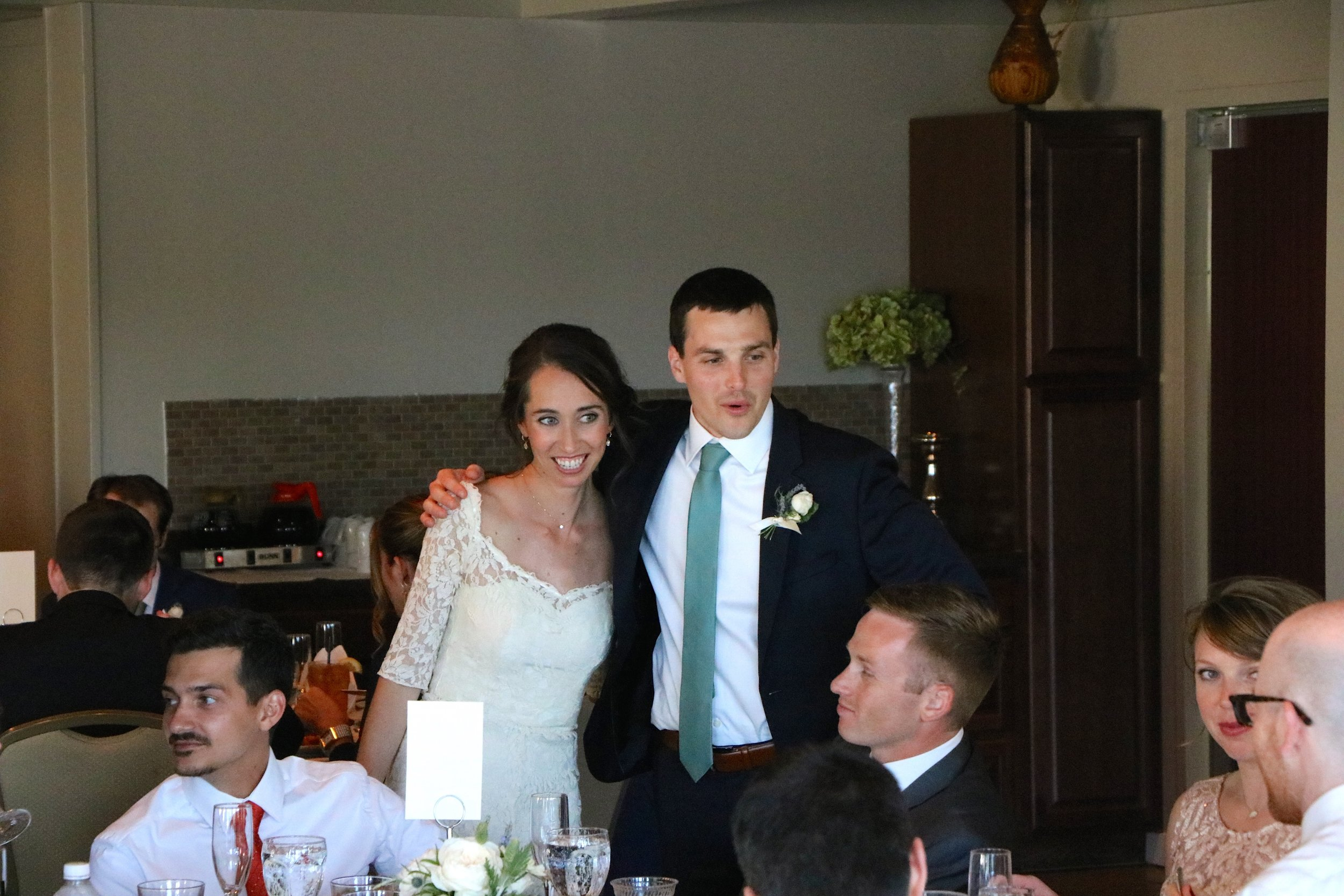 Kristin & Adam (seated) were married in March 2015, which is how I met Lauren & Brock- thanks guys!