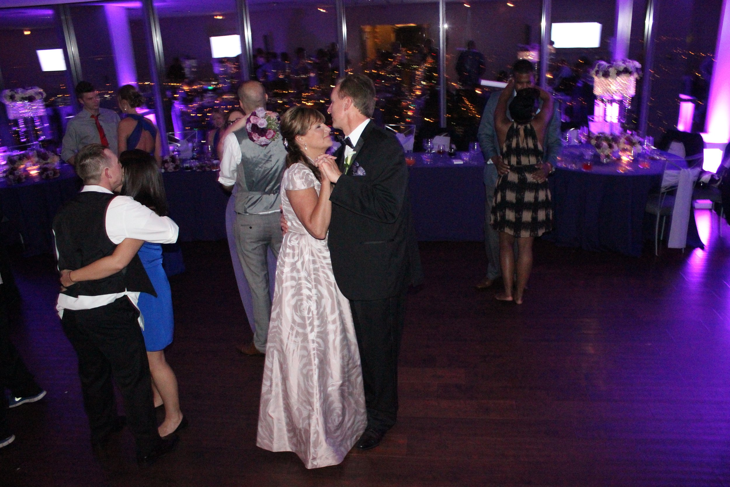 Allie's Mom & Dad enjoy a slow dance