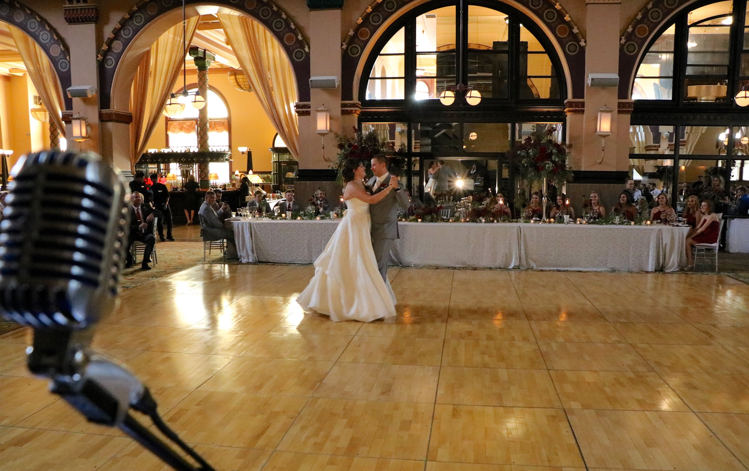 """Diana & Nick's amazing 1st dance was choreographed to """"Amazed"""" by Lonestar"""
