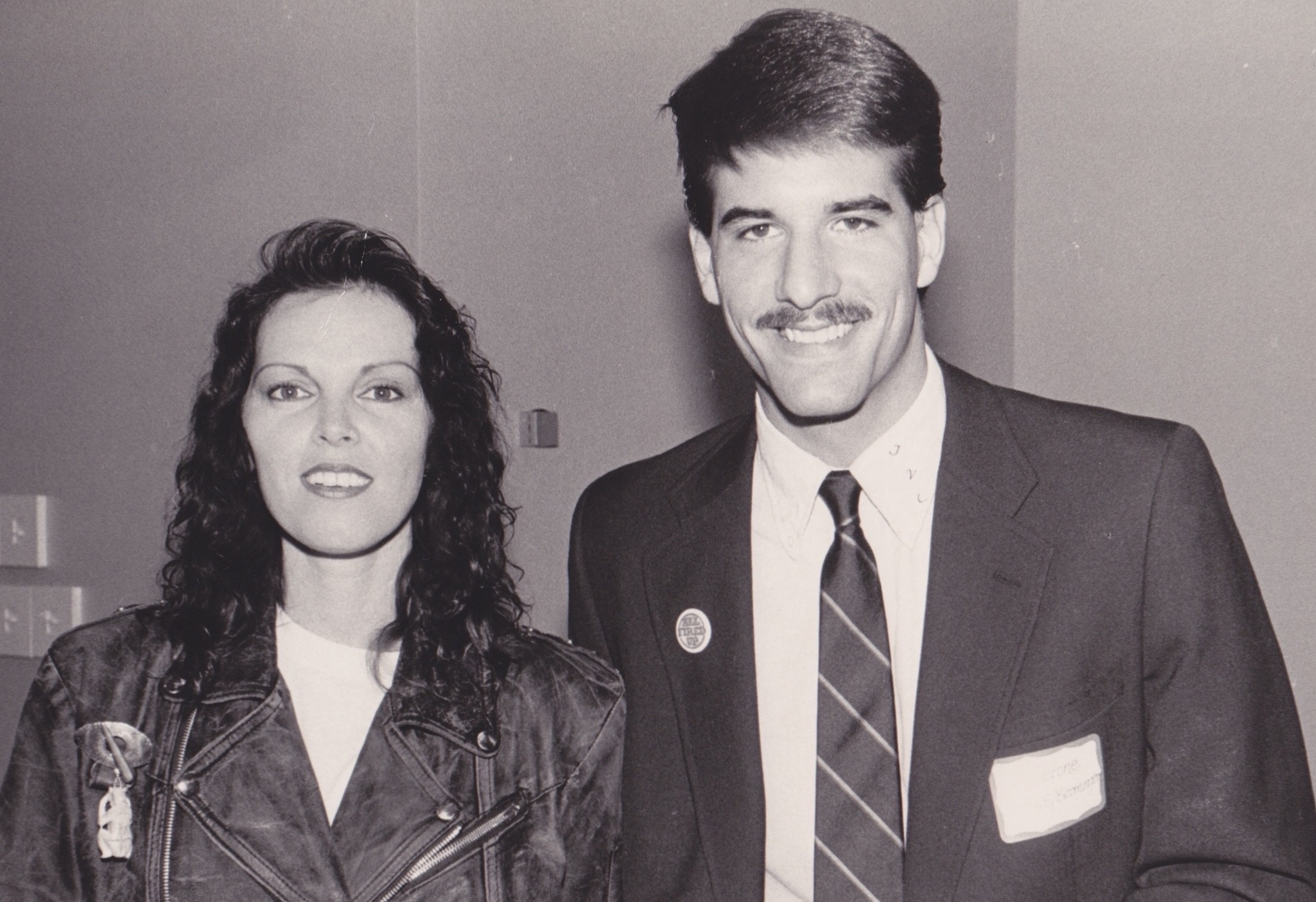 "Jim with Pat Penatar ""Hit Me With Your Best Shot"" (no, he can't explain the really really bad mustache haha)"