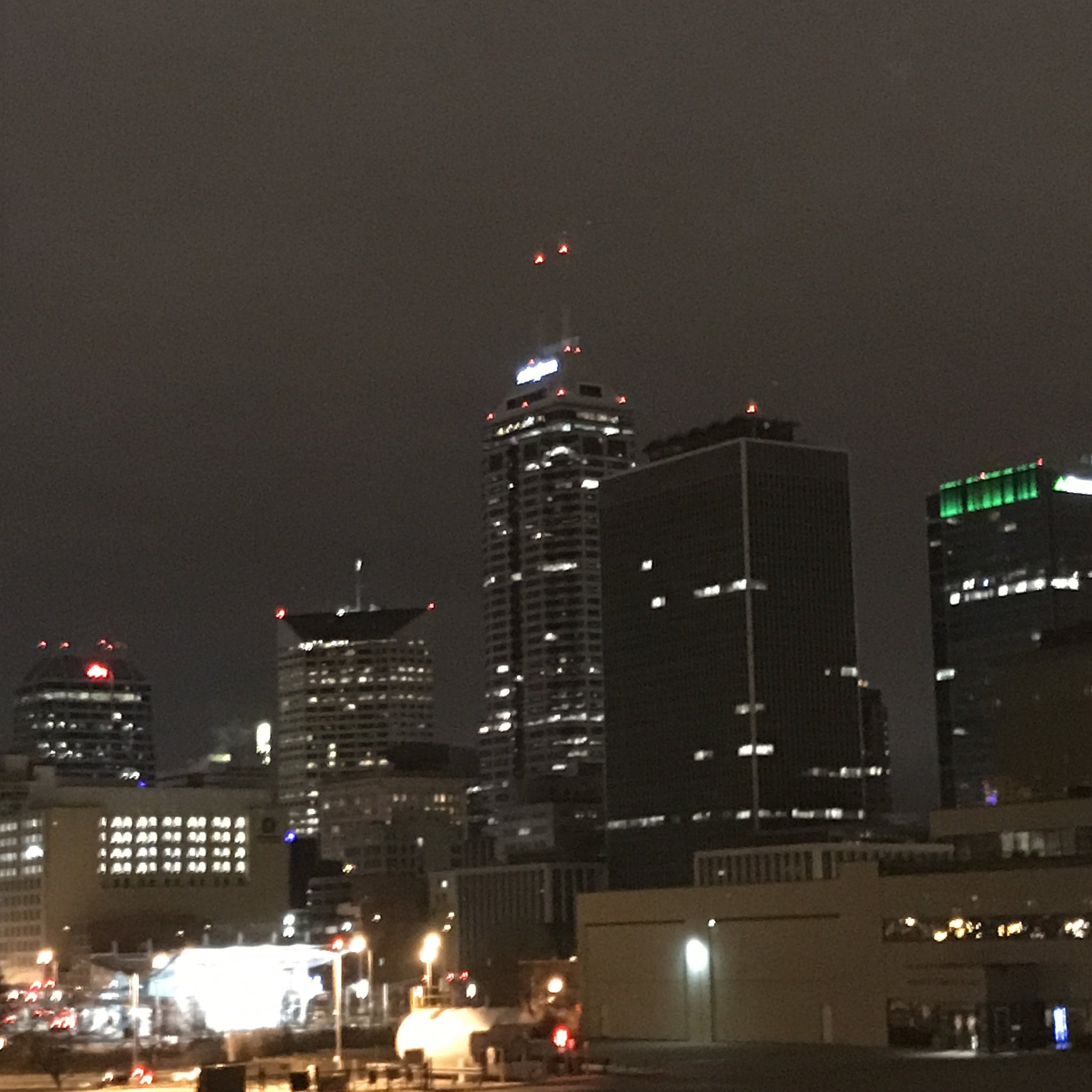 Indy Skyline view from windows at  Mavris Arts & Event Center